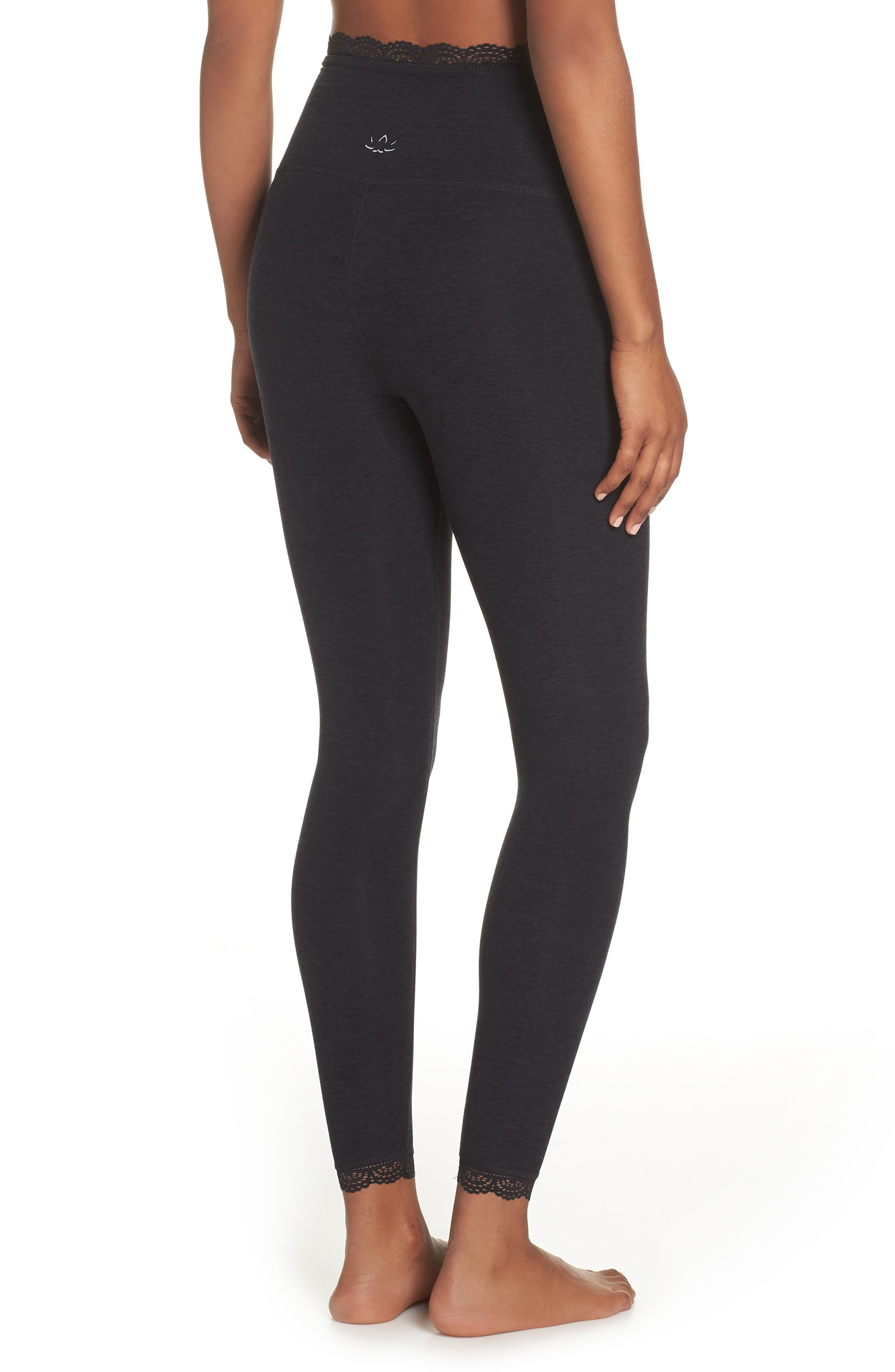 BEYOND YOGA,                             All For Lace Leggings,                             Alternate thumbnail 2, color,                             003
