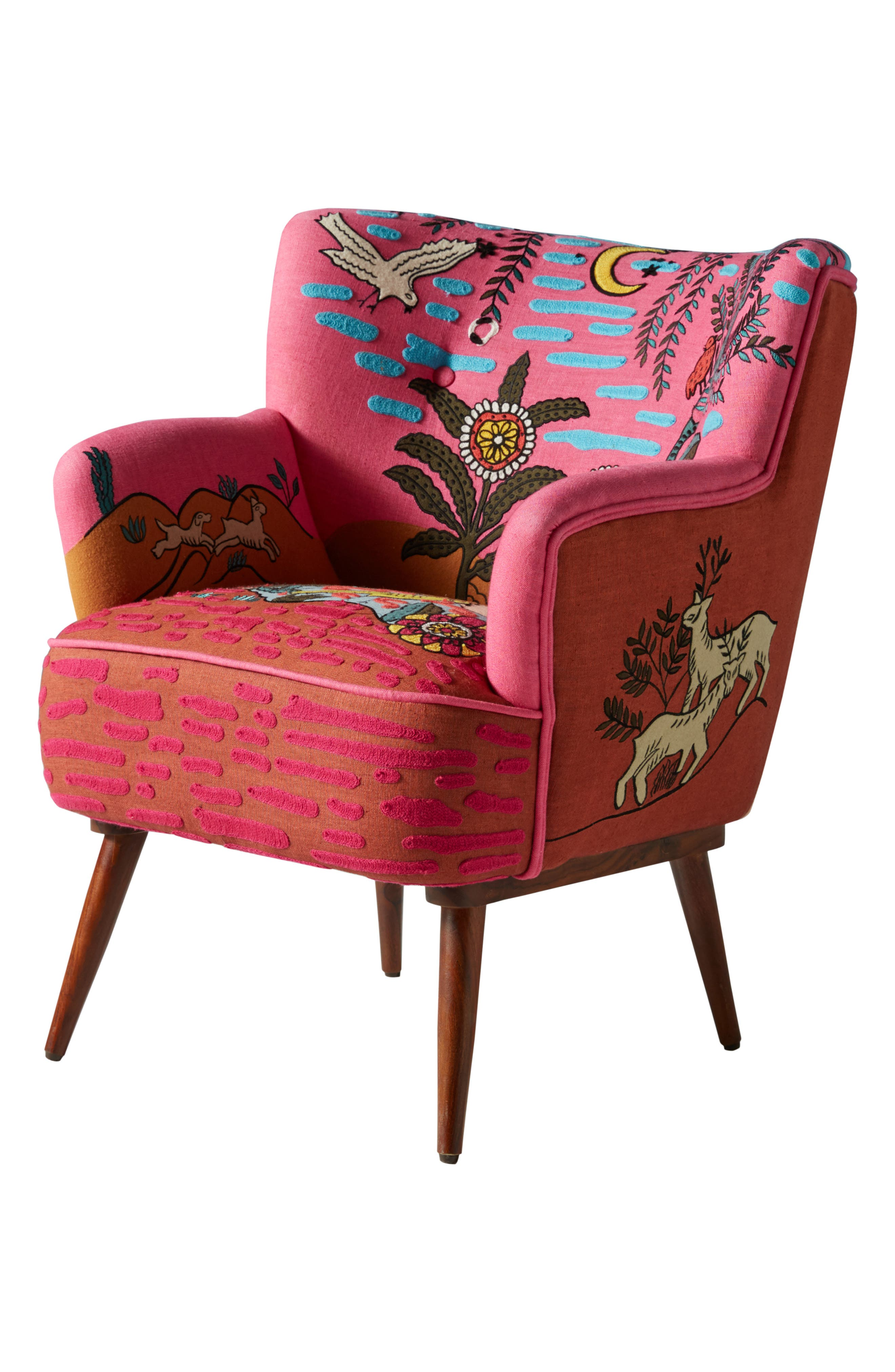Wayne Occasional Chair,                             Alternate thumbnail 6, color,                             PINK