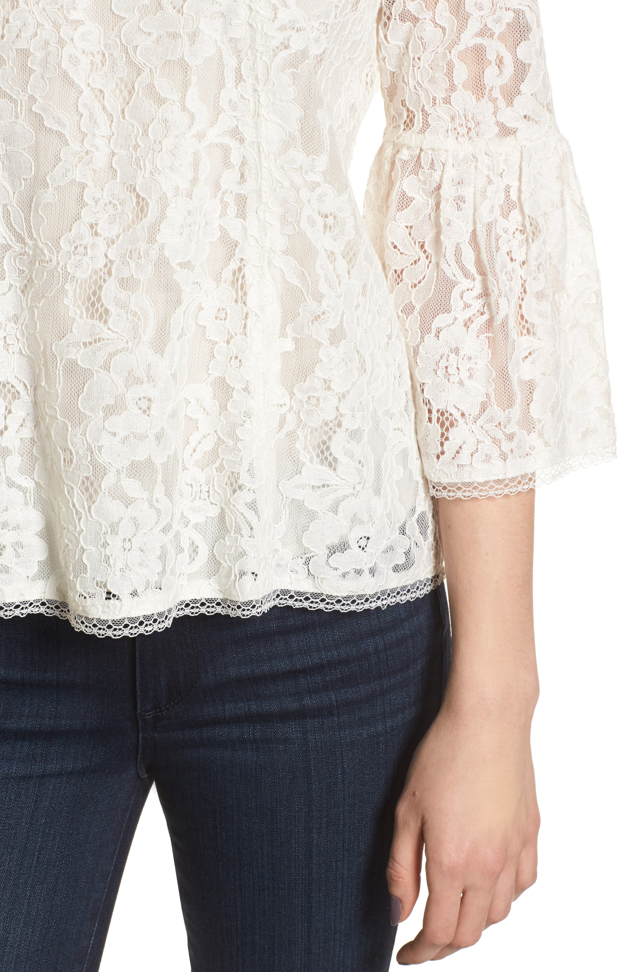 Bell Sleeve Lace Top,                             Alternate thumbnail 12, color,