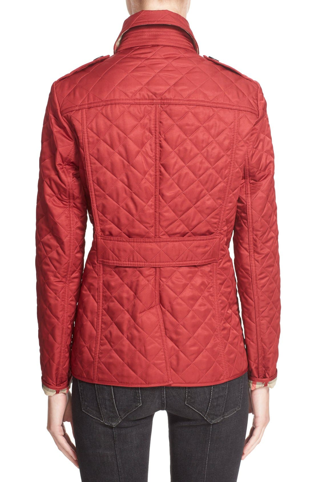 Ashurst Quilted Jacket,                             Alternate thumbnail 6, color,                             PARADE RED