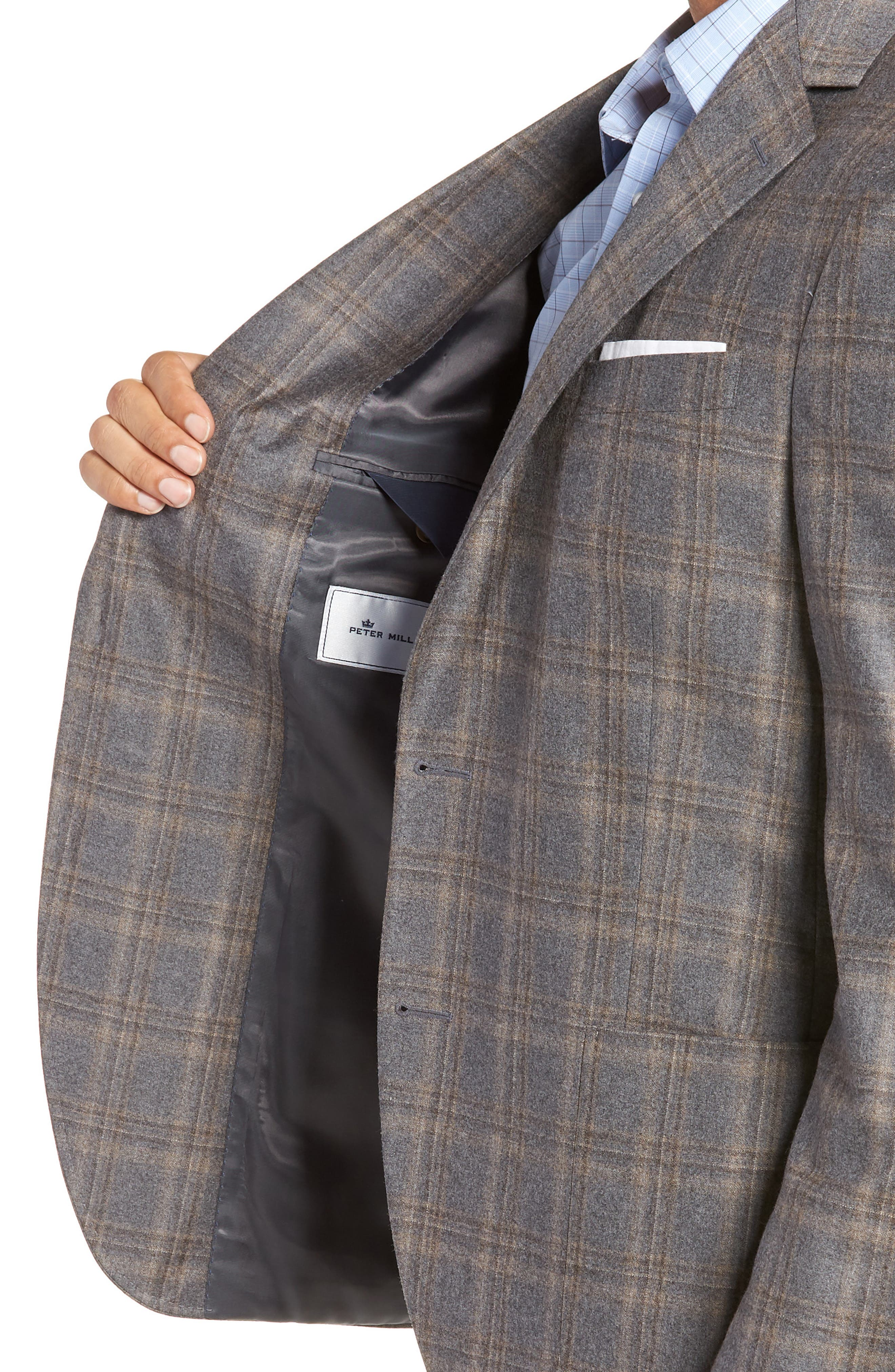 Hyperlight Classic Fit Wool Sport Coat,                             Alternate thumbnail 4, color,                             GREY
