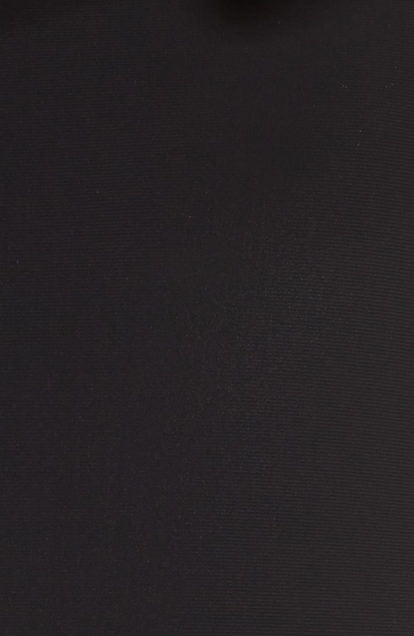 Performance Mesh Panel Jumpsuit,                             Alternate thumbnail 6, color,                             BLACK