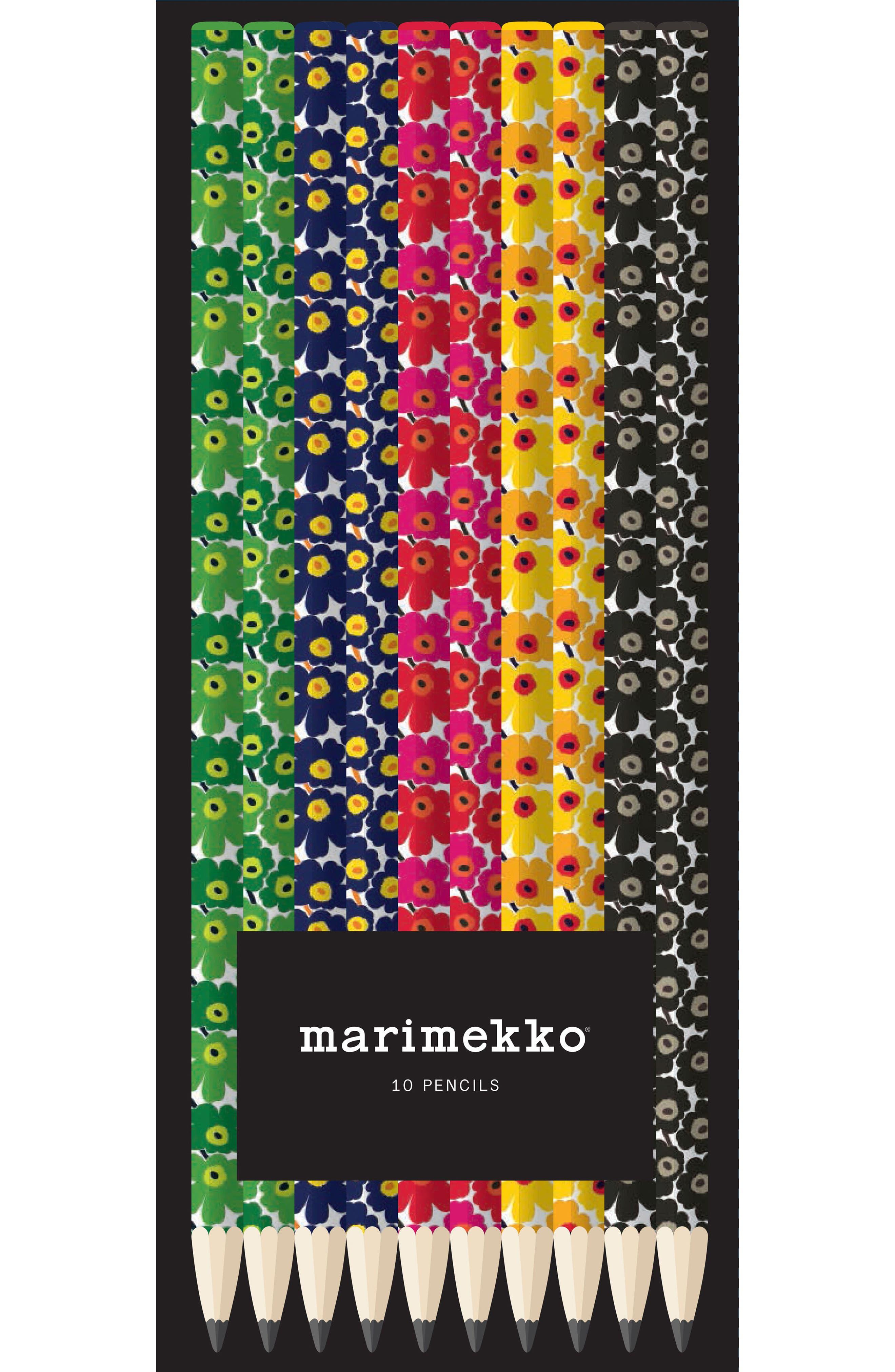 CHRONICLE BOOKS,                             10-Pack Marimekko Pencils,                             Alternate thumbnail 2, color,                             001