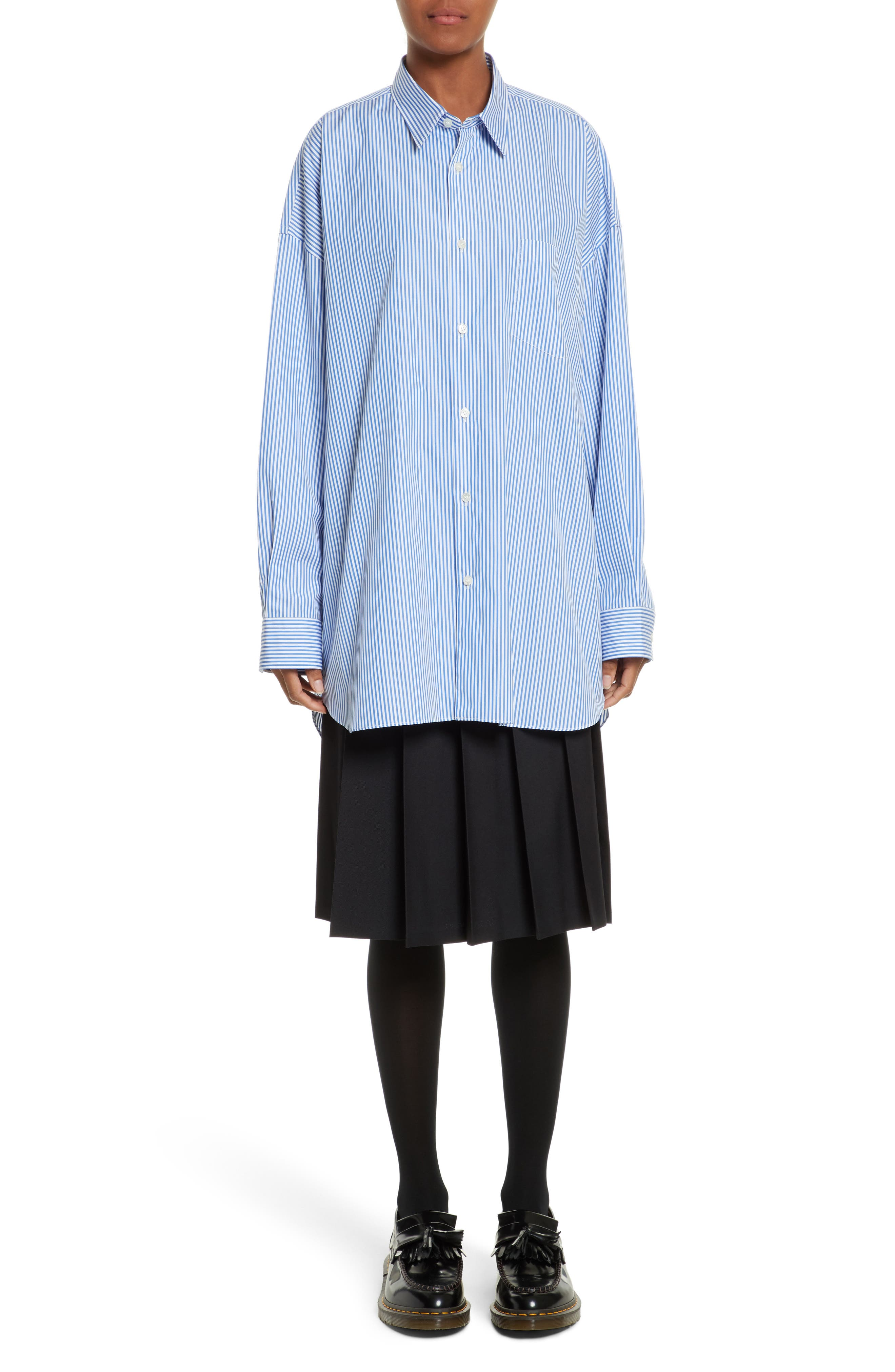 Oversize Button Down Shirt,                             Alternate thumbnail 7, color,