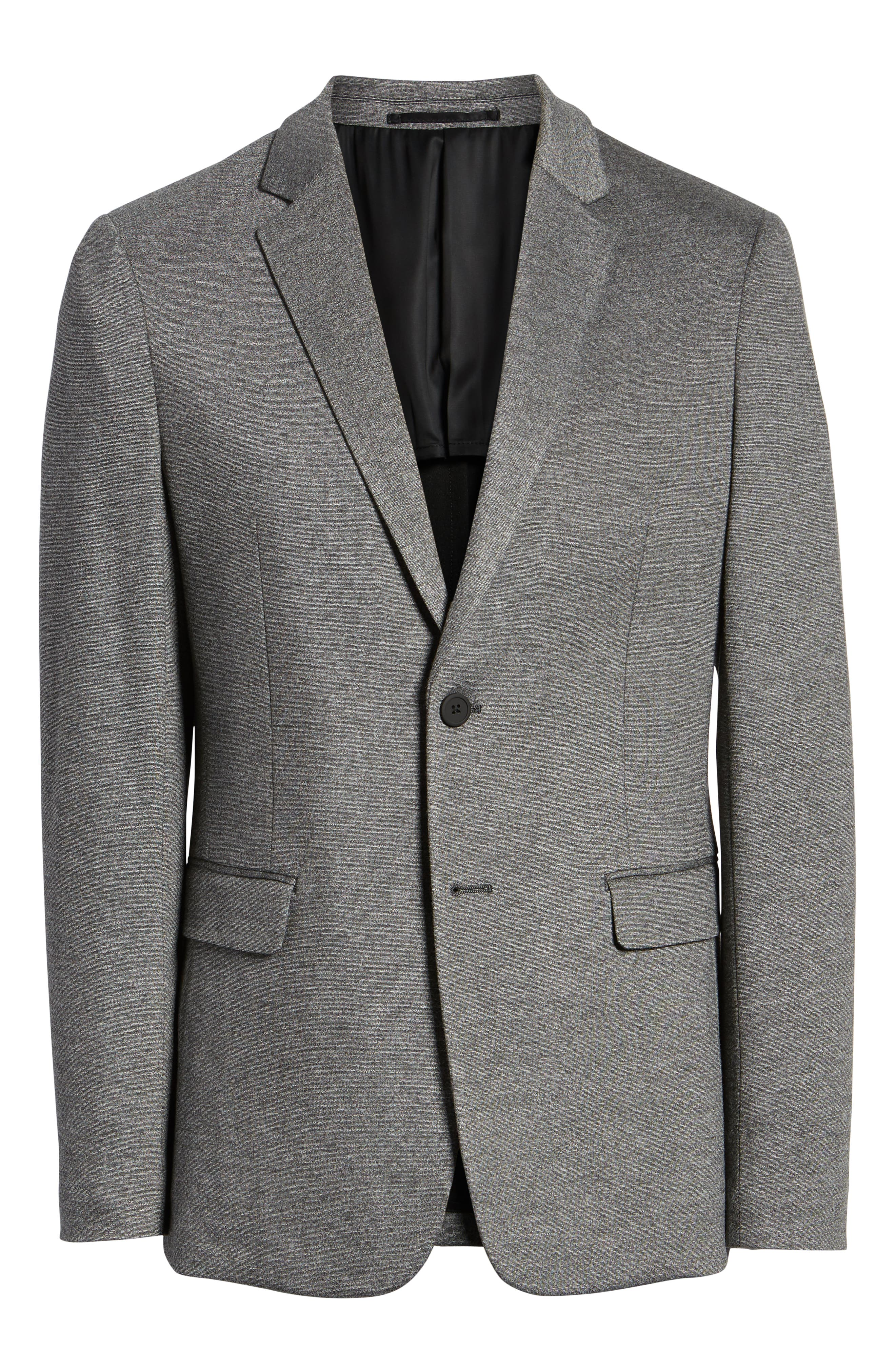 THEORY,                             Clinton Marled Ponte Sport Coat,                             Alternate thumbnail 5, color,                             004
