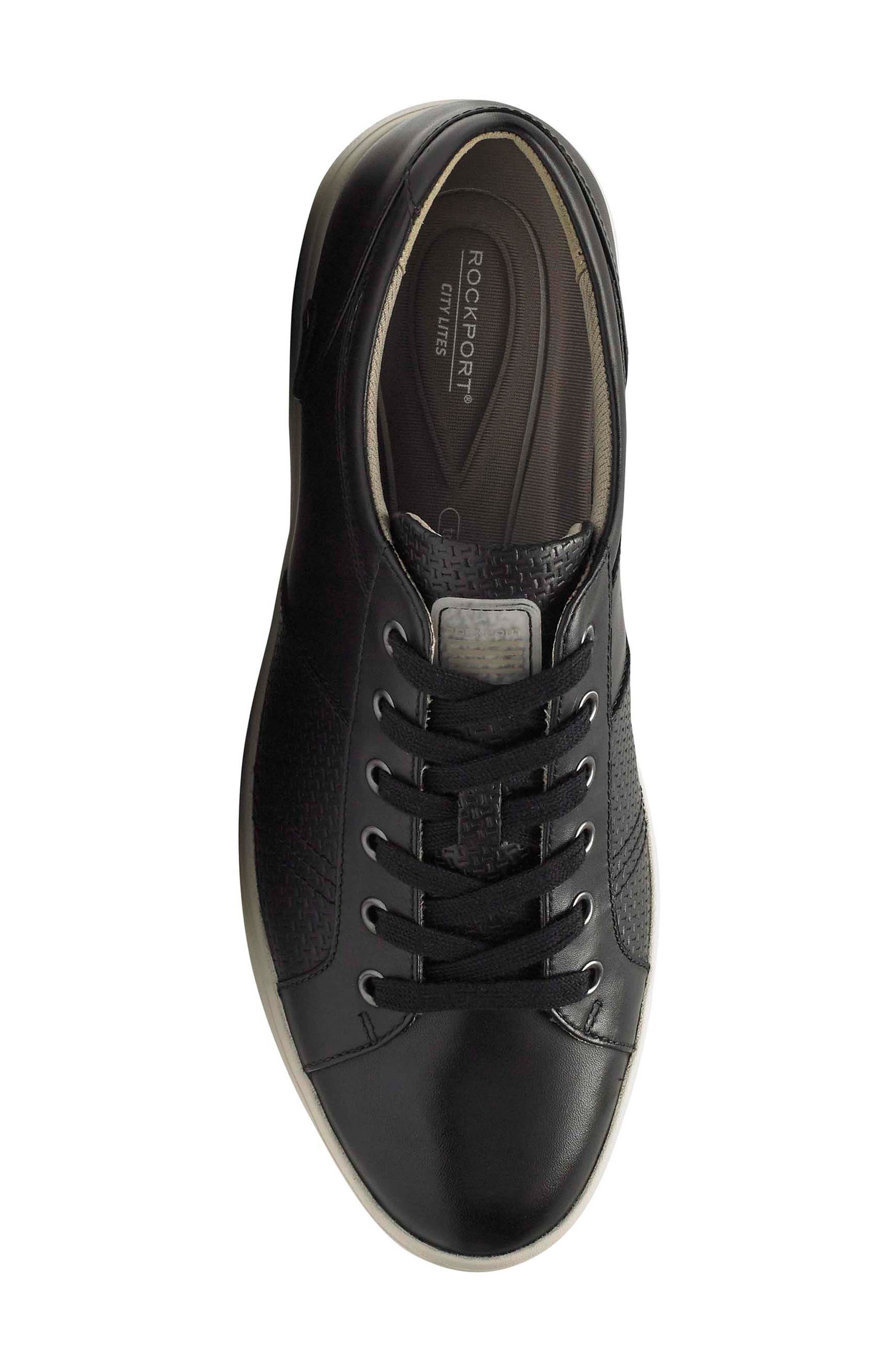 City Lites Collection Lace-Up Sneaker,                             Alternate thumbnail 5, color,                             001
