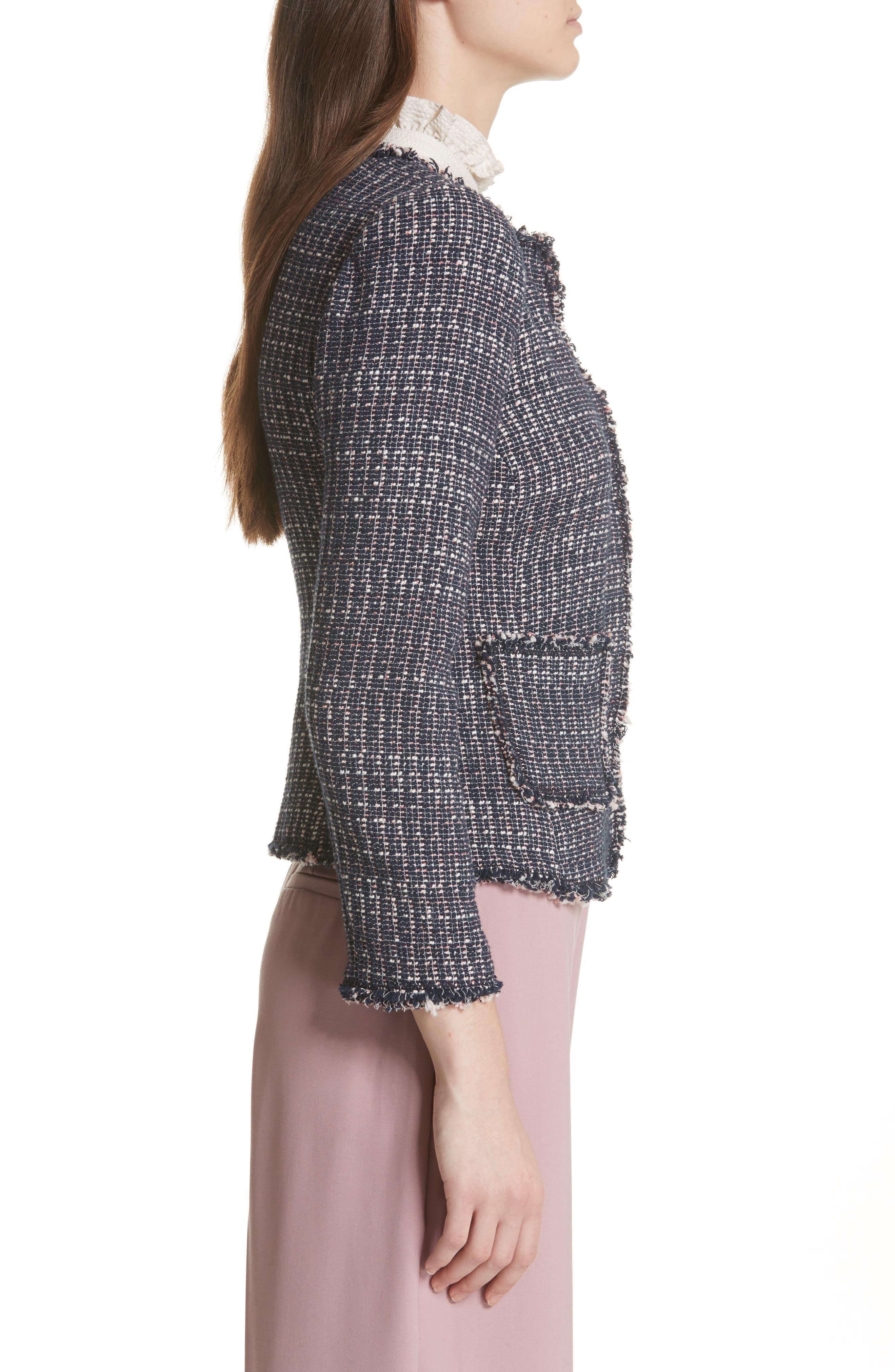 Multi Tweed Jacket,                             Alternate thumbnail 3, color,                             482
