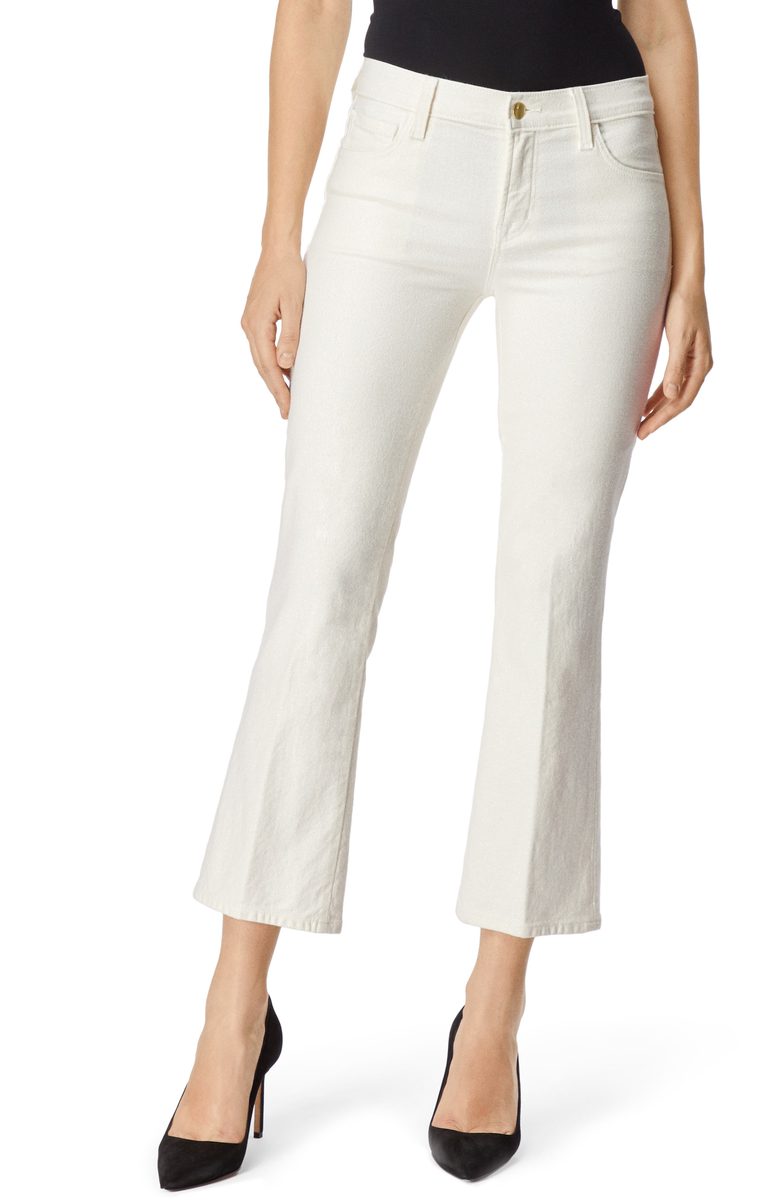 Selena Crop Bootcut Jeans,                         Main,                         color, GLIMMER