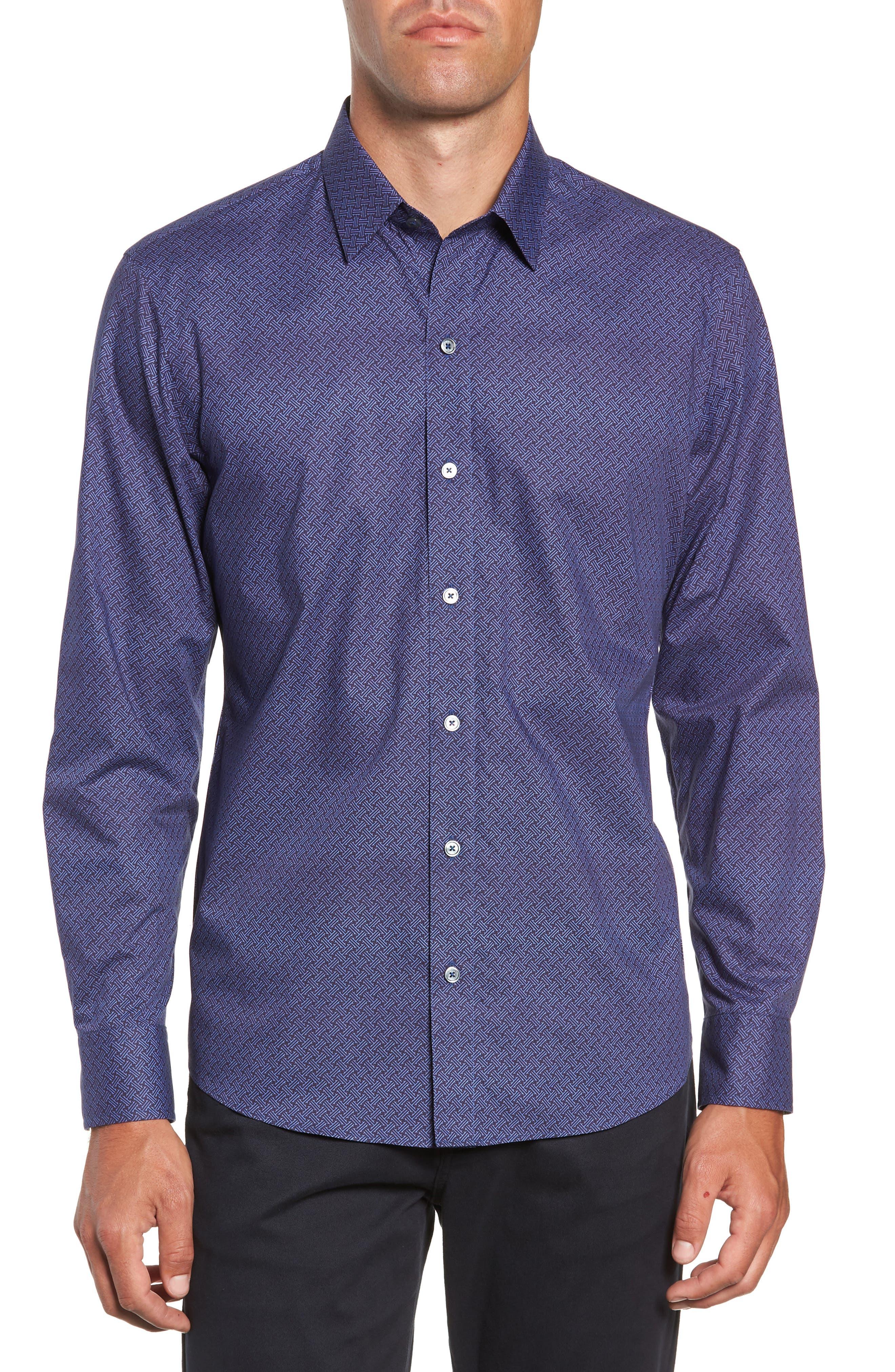 Singh Regular Fit Sport Shirt,                         Main,                         color, NAVY