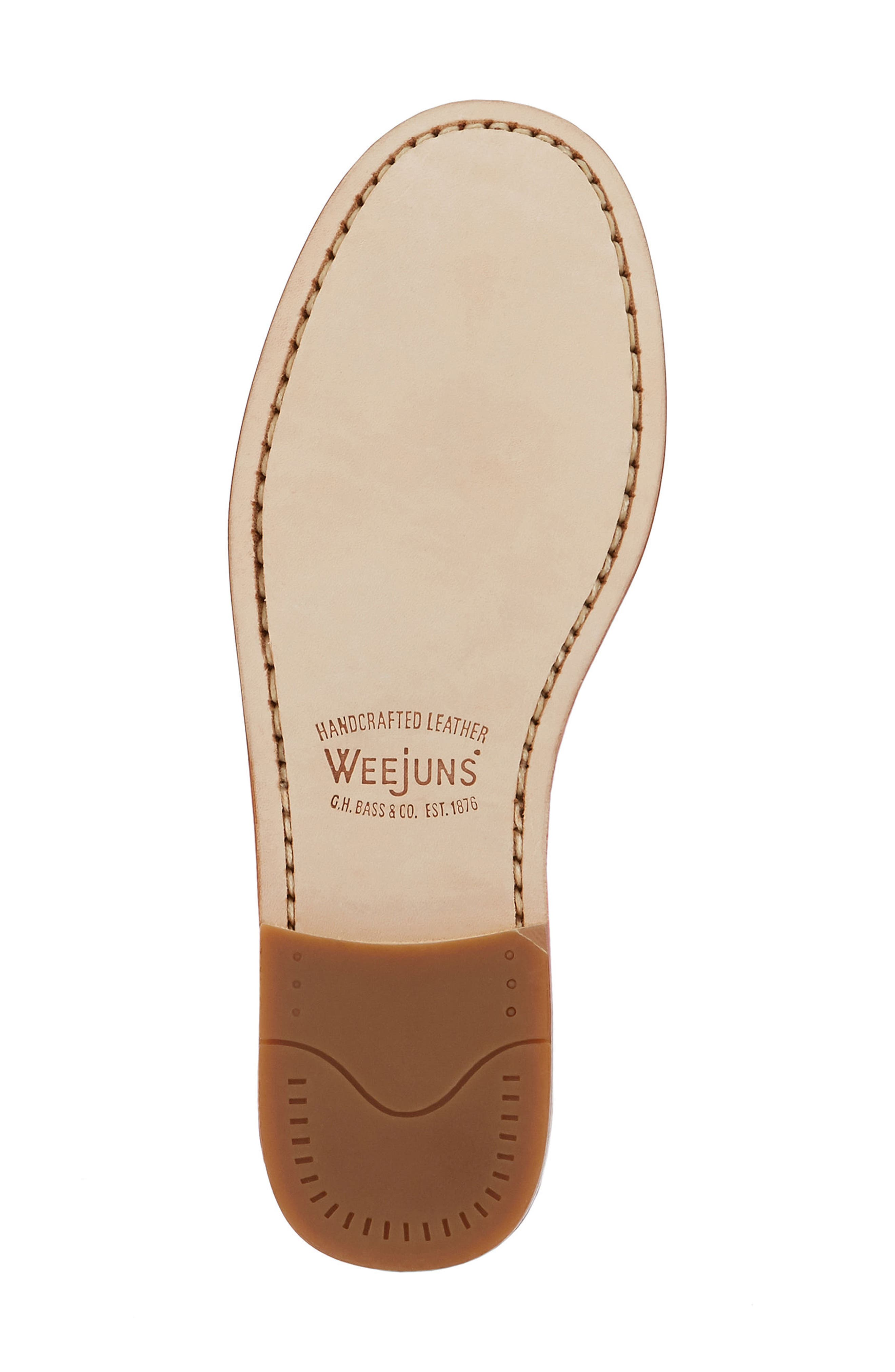 'Whitney' Loafer,                             Alternate thumbnail 4, color,                             COGNAC LEATHER