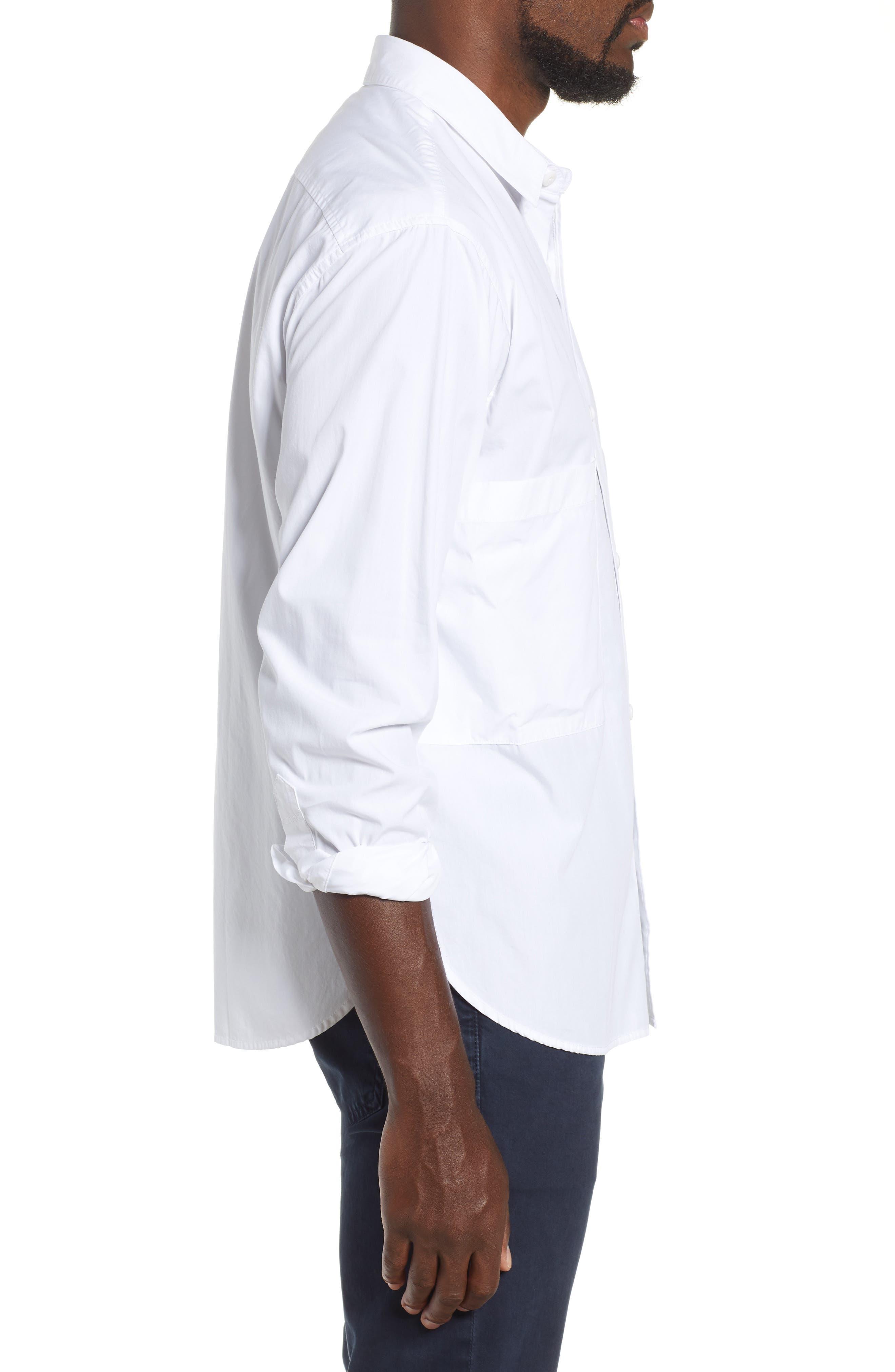 Shiro Oversize Pockets Regular Fit Sport Shirt,                             Alternate thumbnail 4, color,                             TRUE WHITE