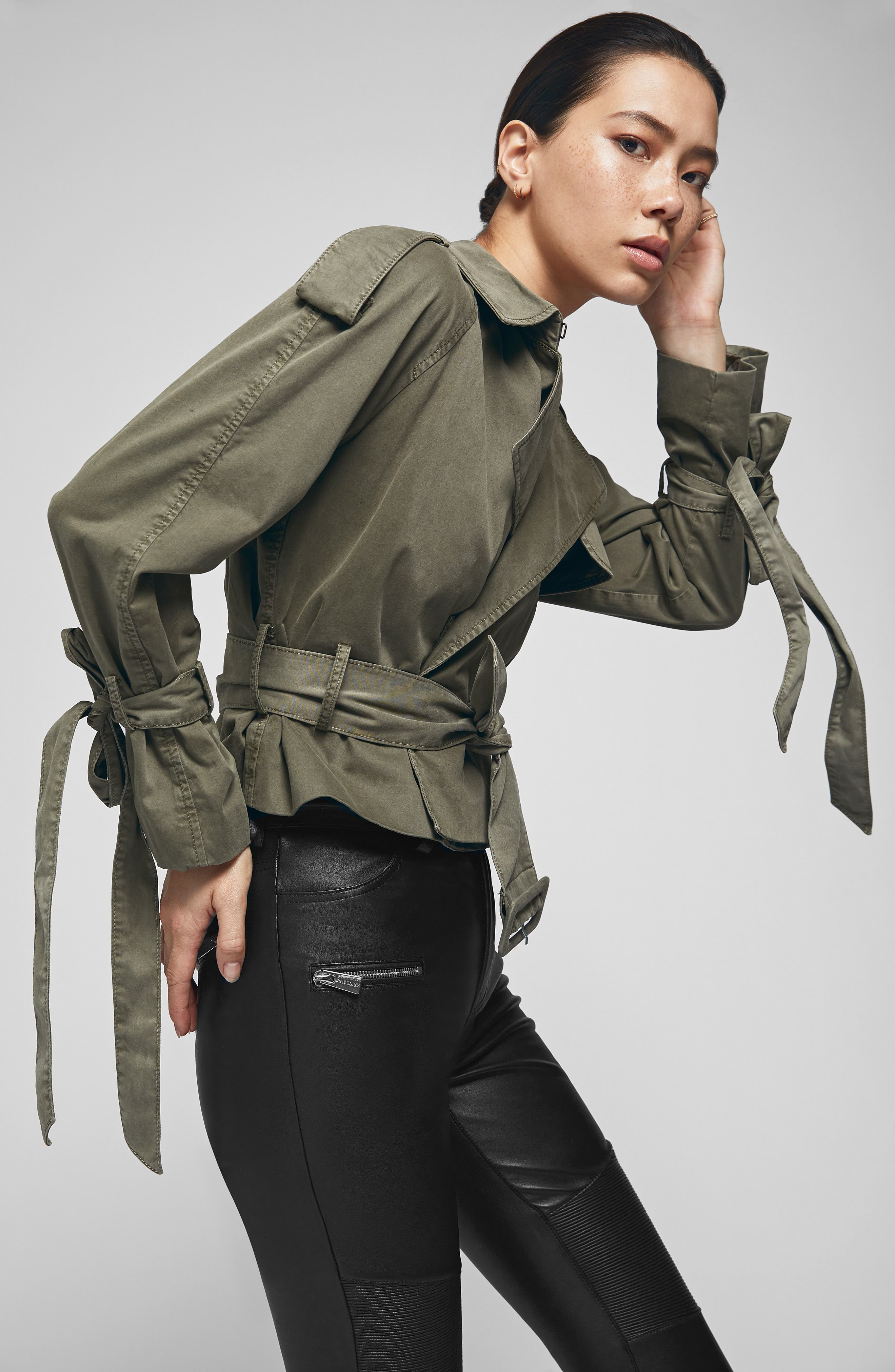 ANINE BING,                             Aria Trench Jacket,                             Alternate thumbnail 3, color,                             300