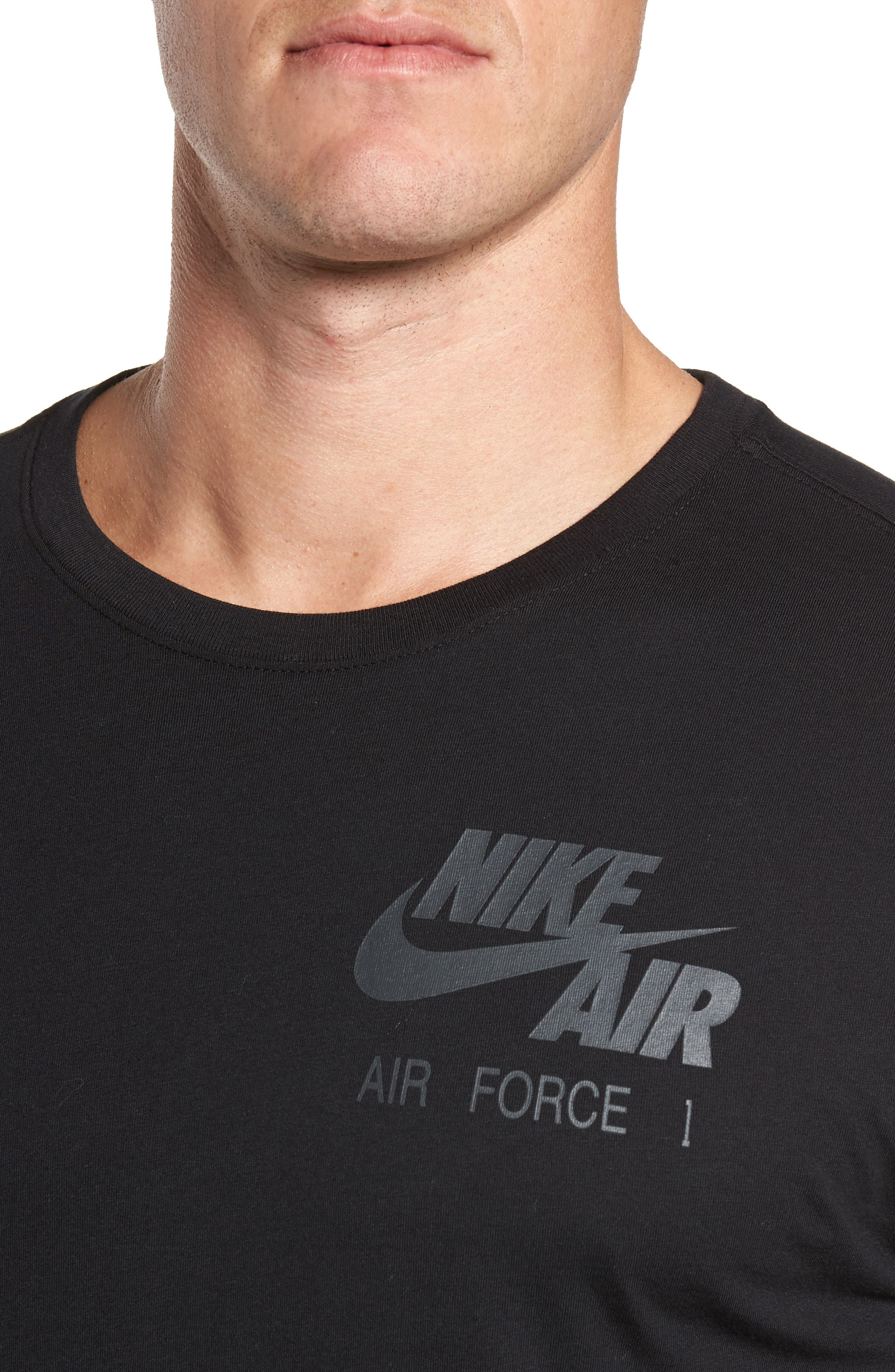 Air Force 1 Long Sleeve T-Shirt,                             Alternate thumbnail 4, color,                             010