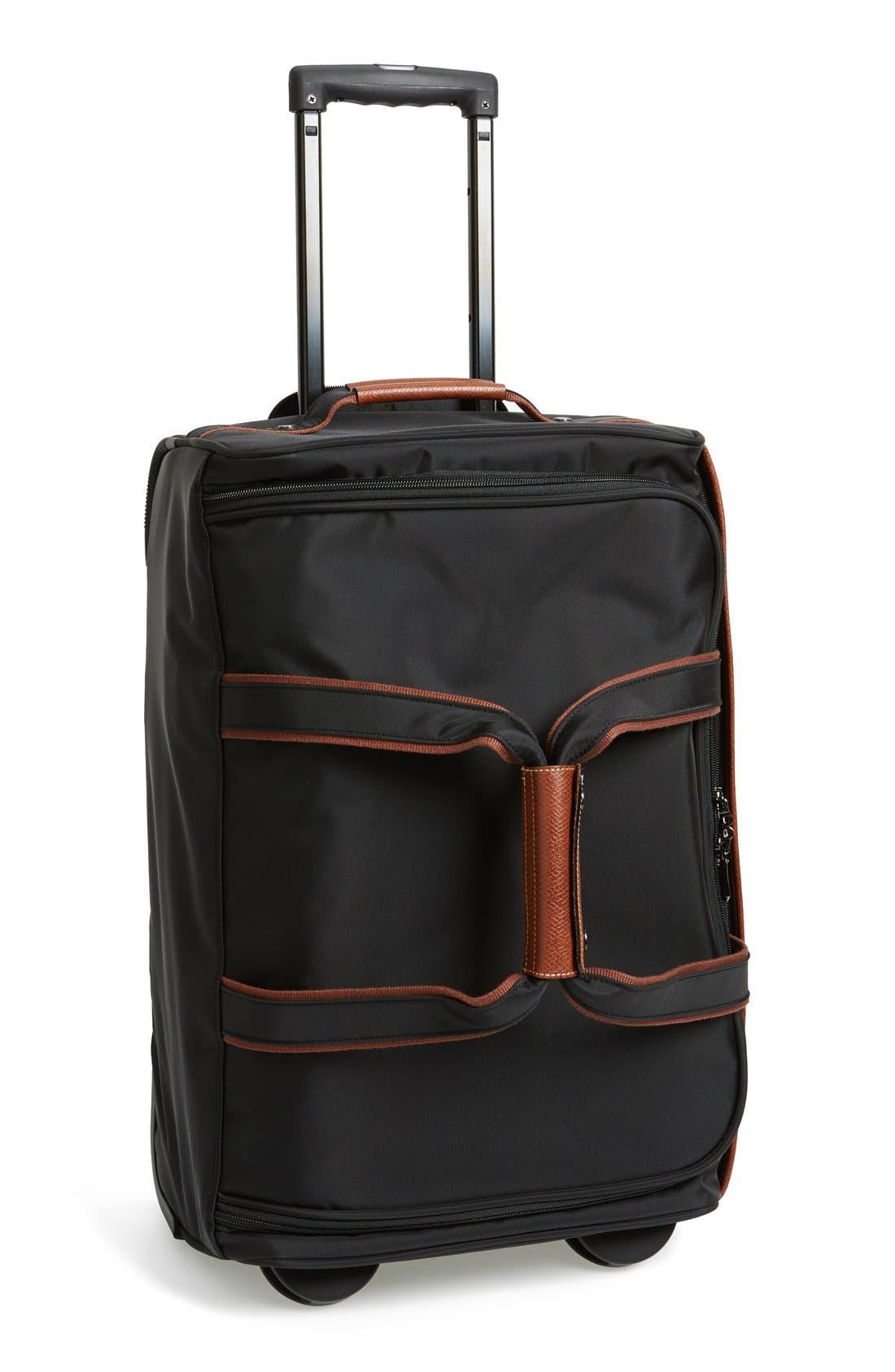 'Small Le Pliage' Wheeled Travel Bag, Main, color, 001