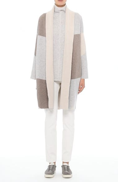 Alternate Video 8  - Lafayette 148 New York Stretch Cashmere Reversible Felted Colorblock Cardigan