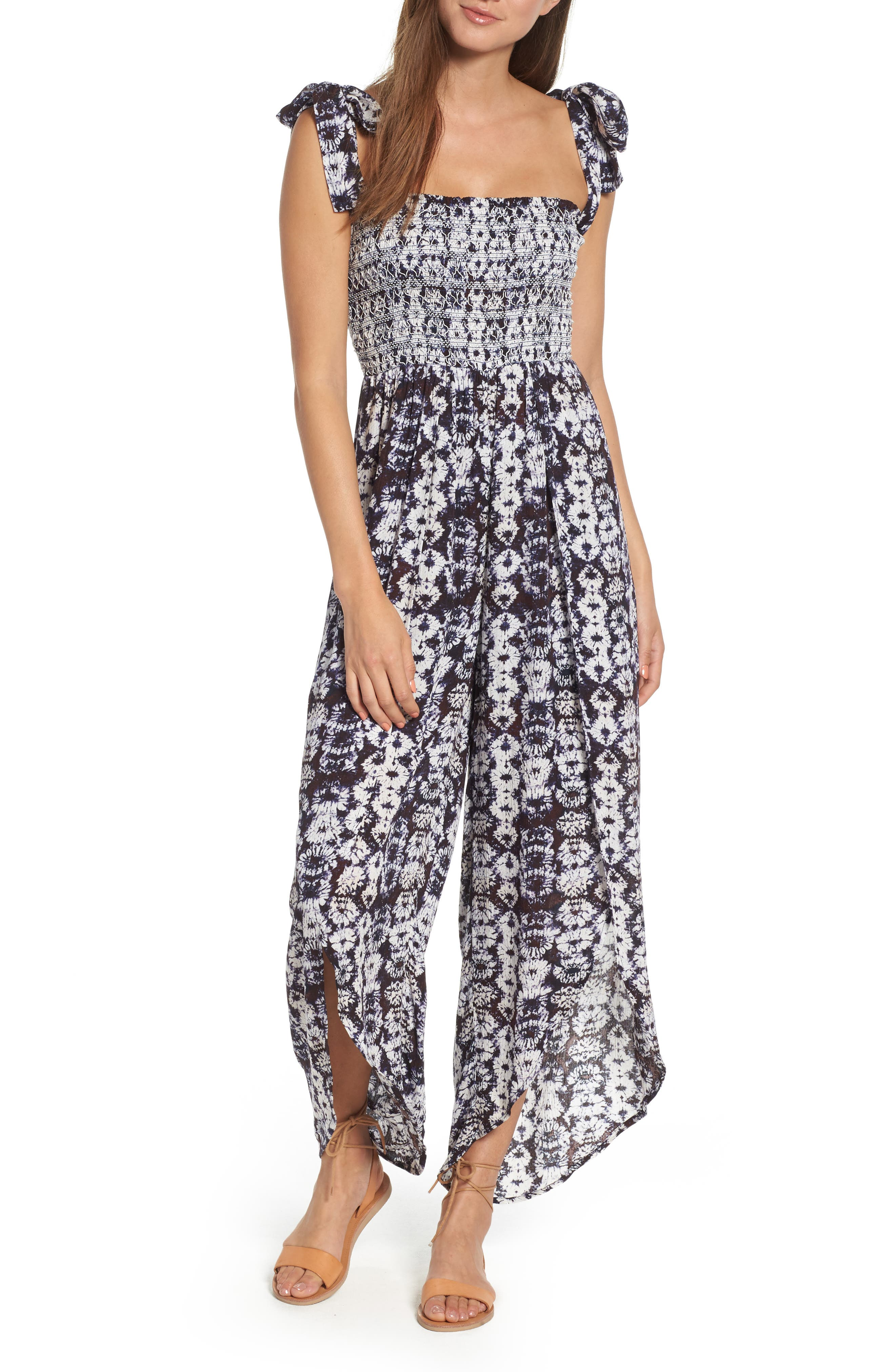 Violeta Print Jumpsuit,                         Main,                         color, PURPLE MULTI