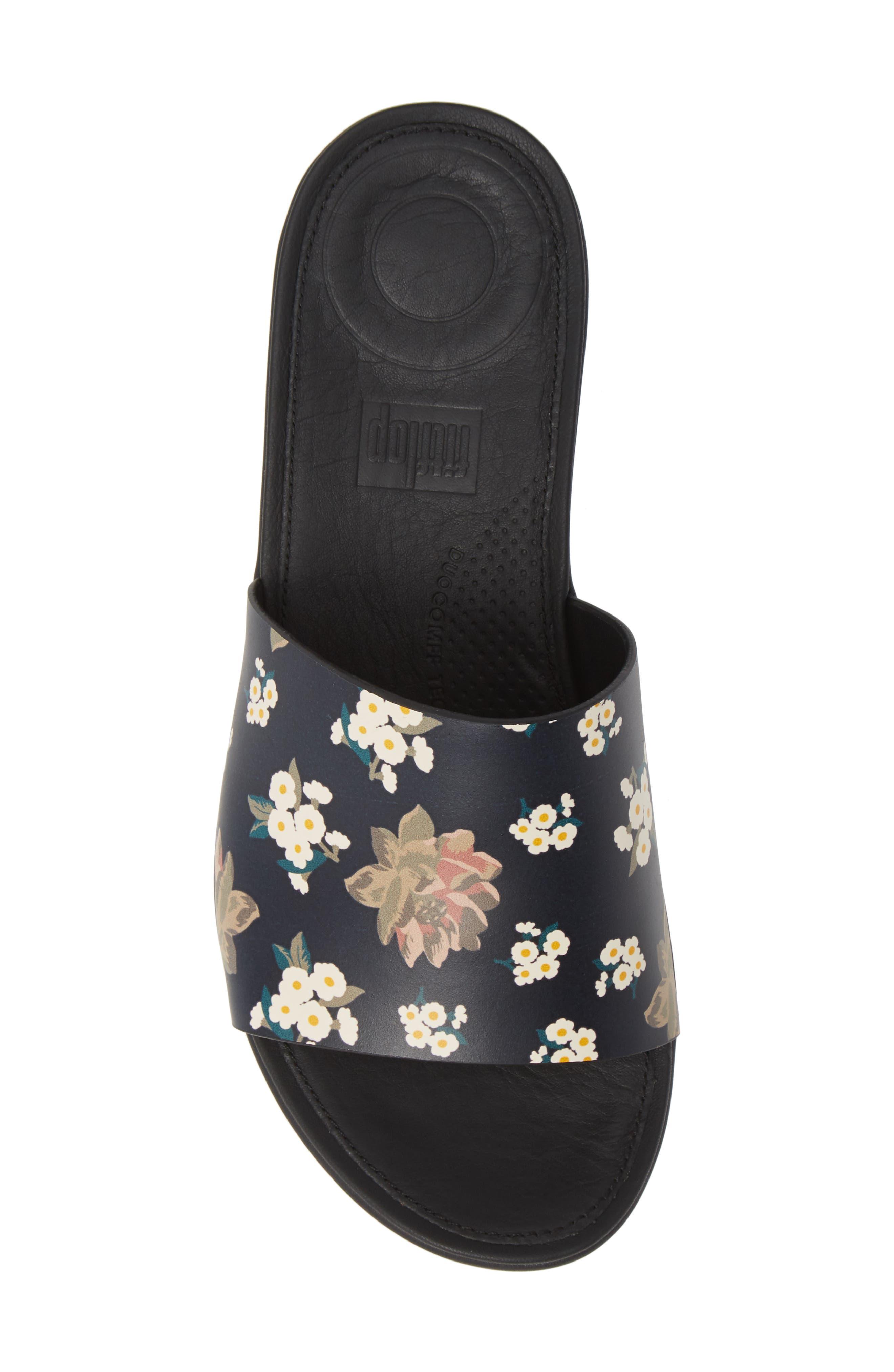 FITFLOP,                             Sola Floral Slide Sandal,                             Alternate thumbnail 5, color,                             001