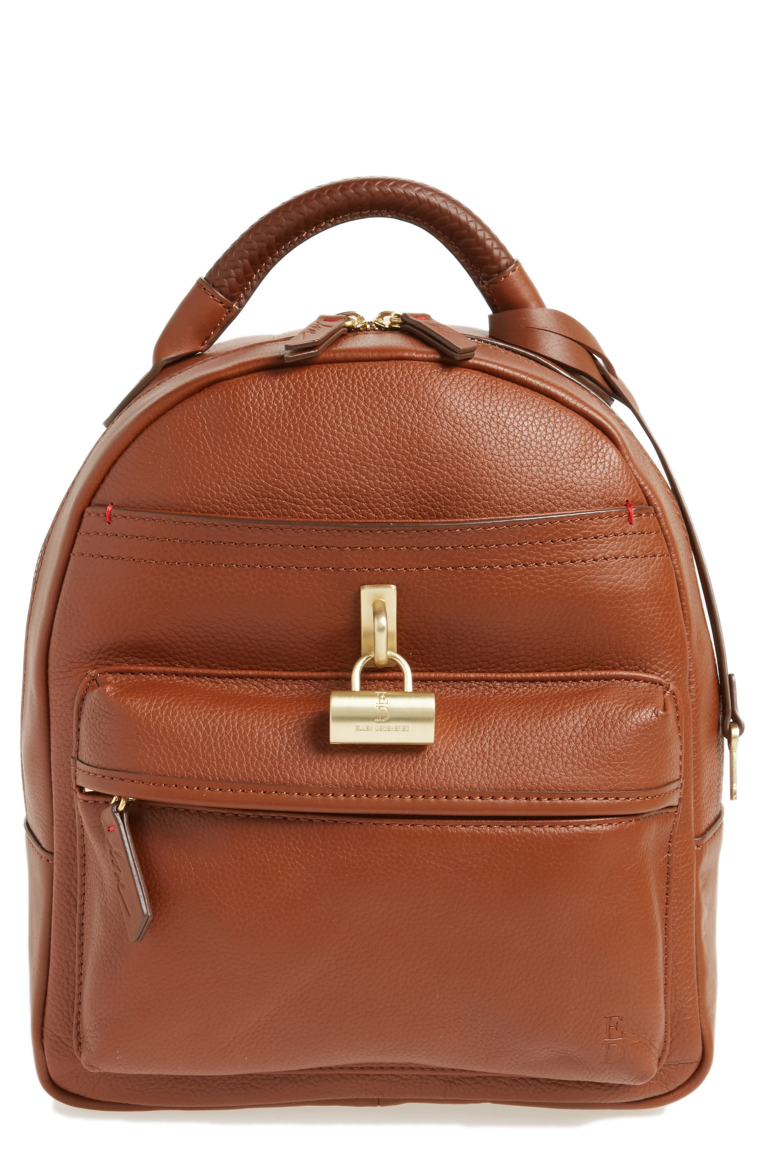 Brody Leather Backpack,                         Main,                         color, 242