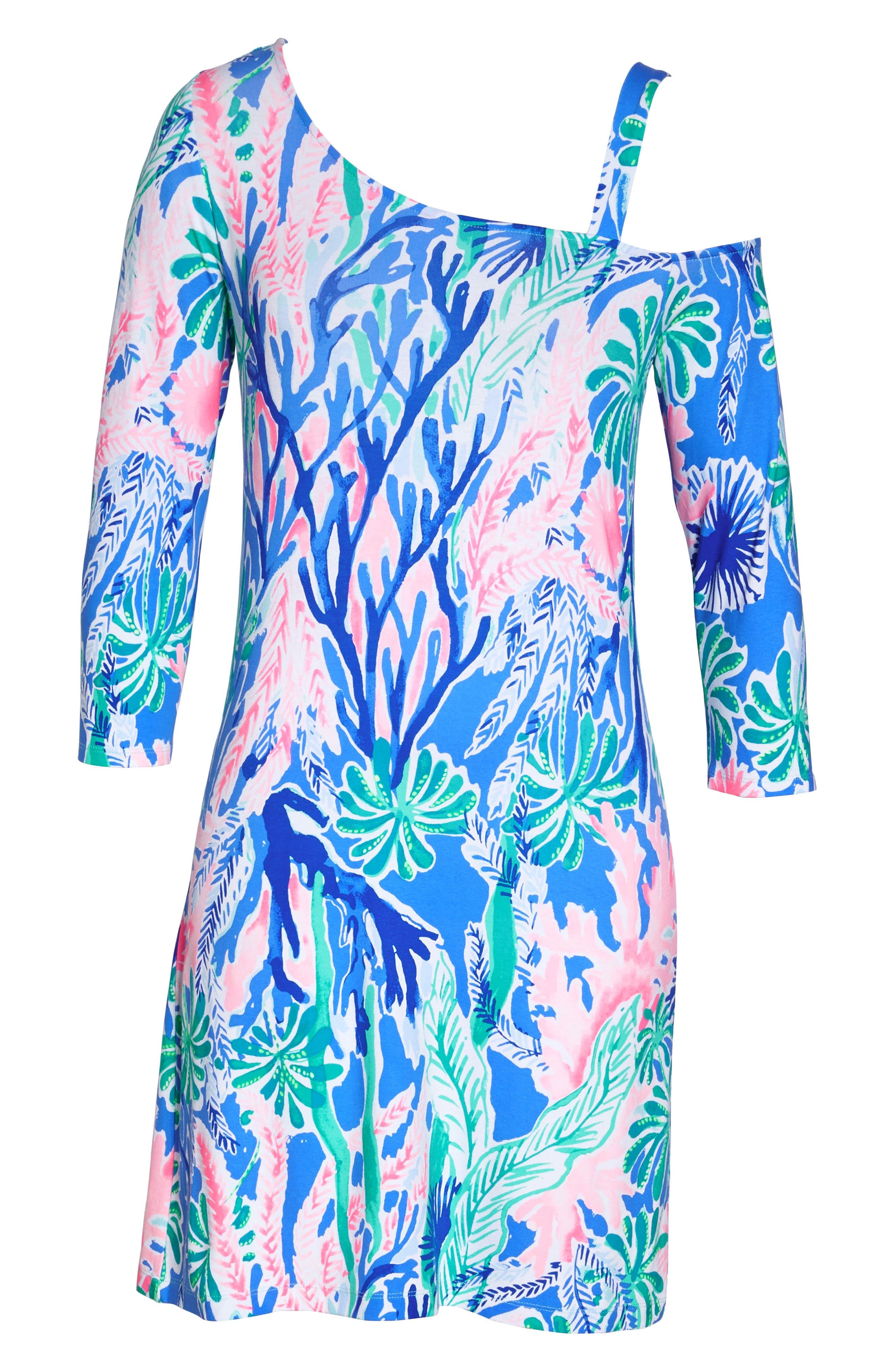 One-Shoulder Minidress,                             Alternate thumbnail 8, color,                             400