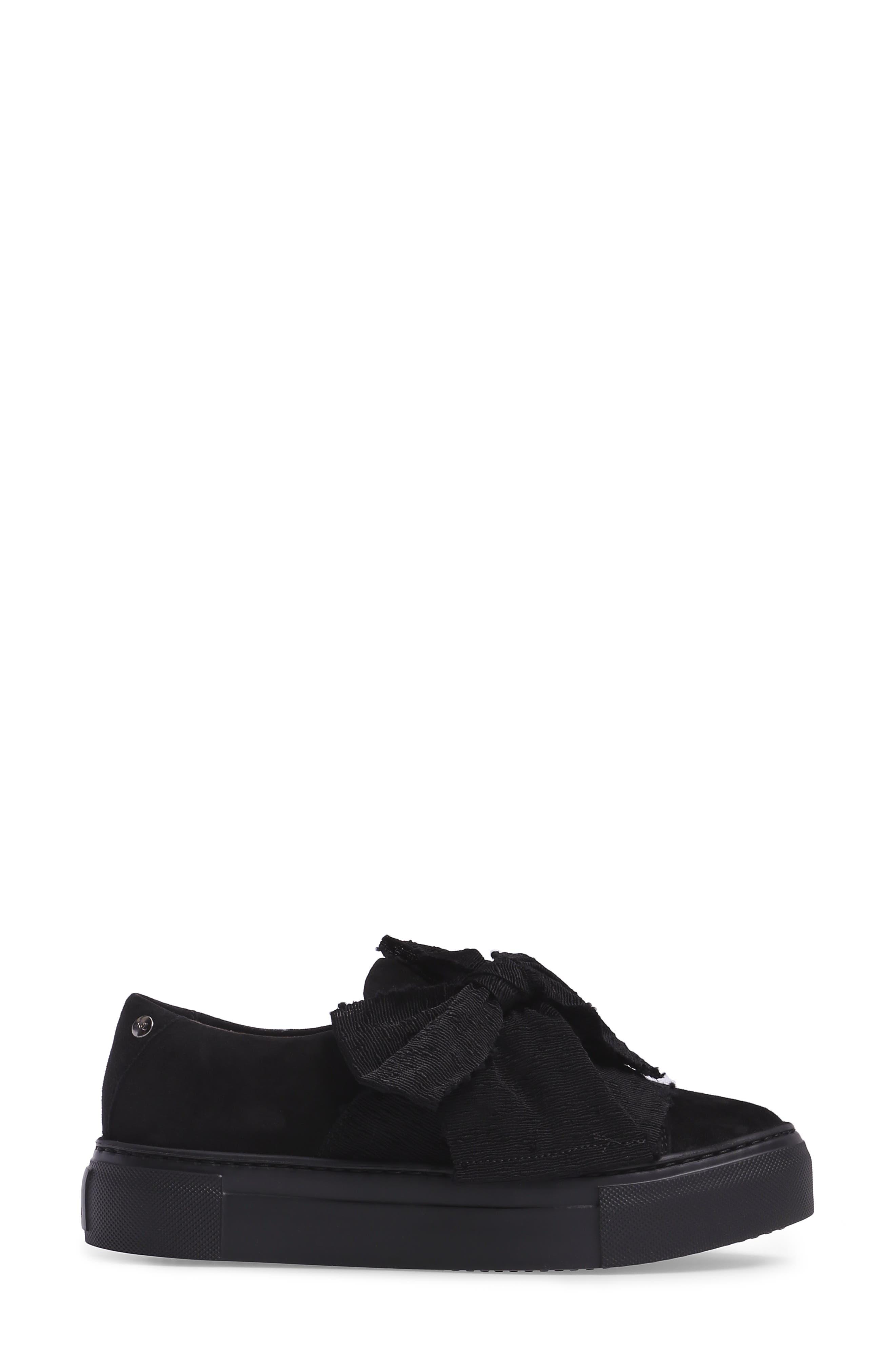 Bow Platform Sneaker,                             Alternate thumbnail 3, color,                             002