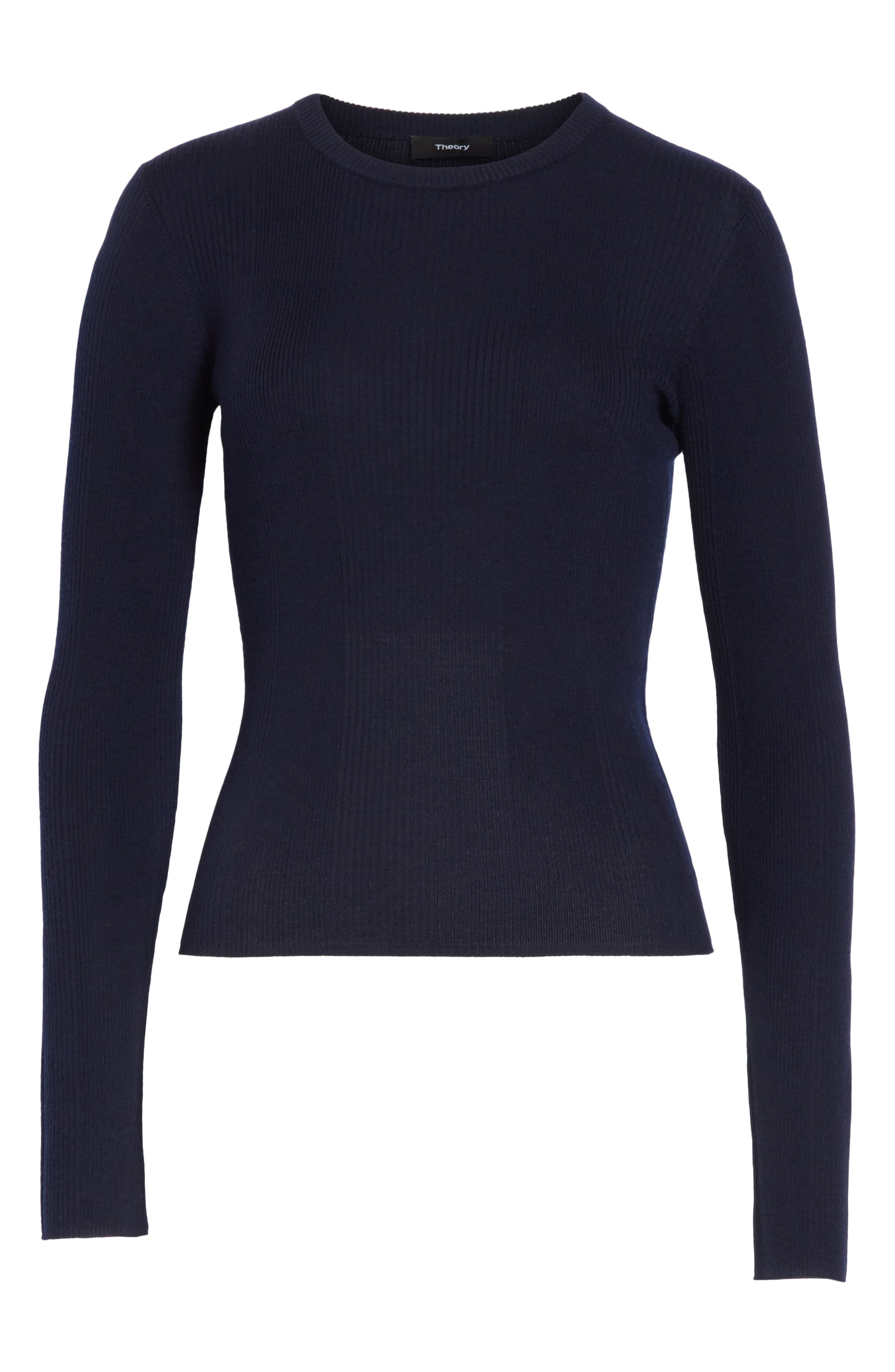 Merino Wool Blend Sweater,                             Alternate thumbnail 18, color,