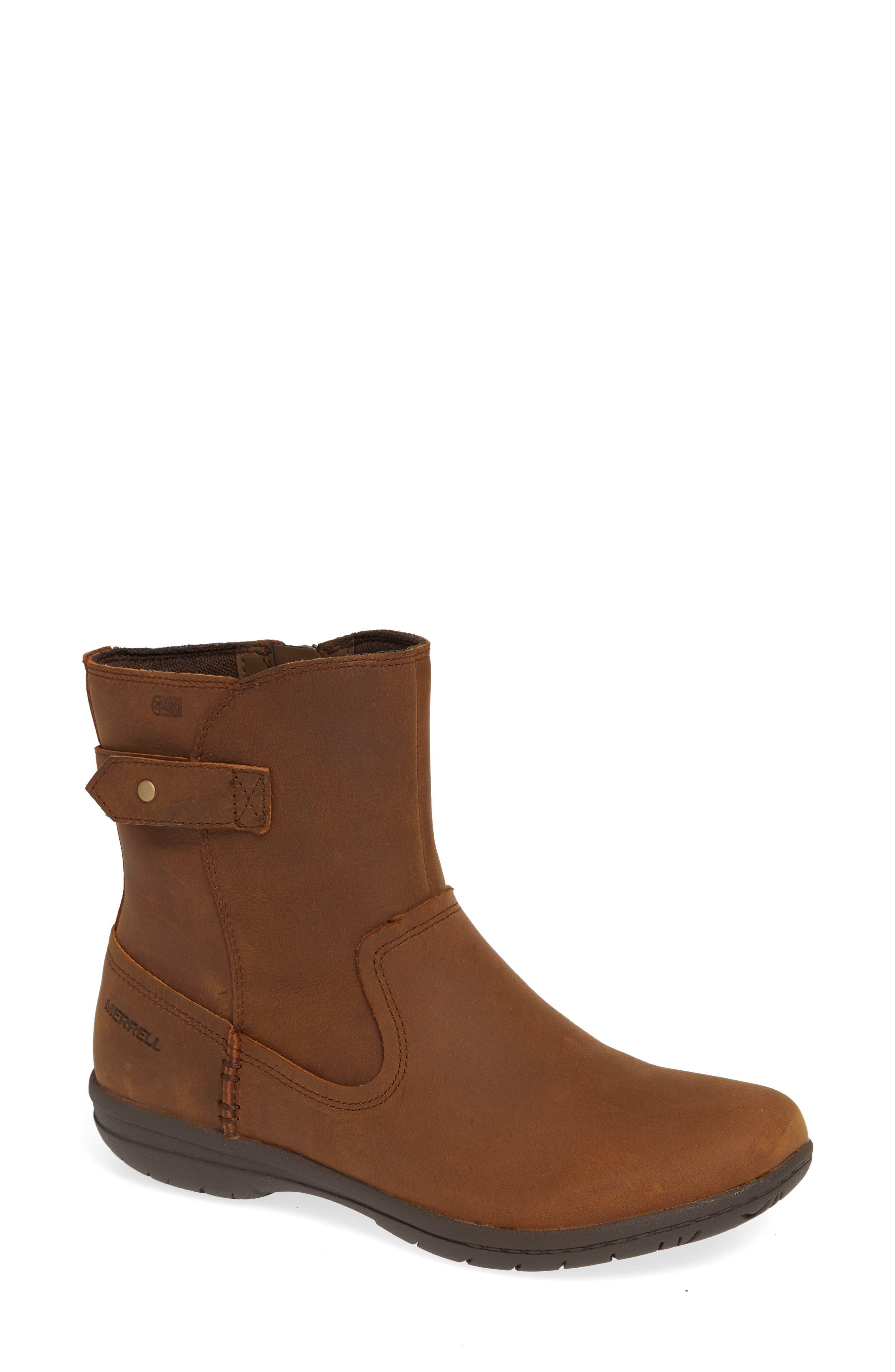 Merrell Kassie Waterproof Bootie, Brown