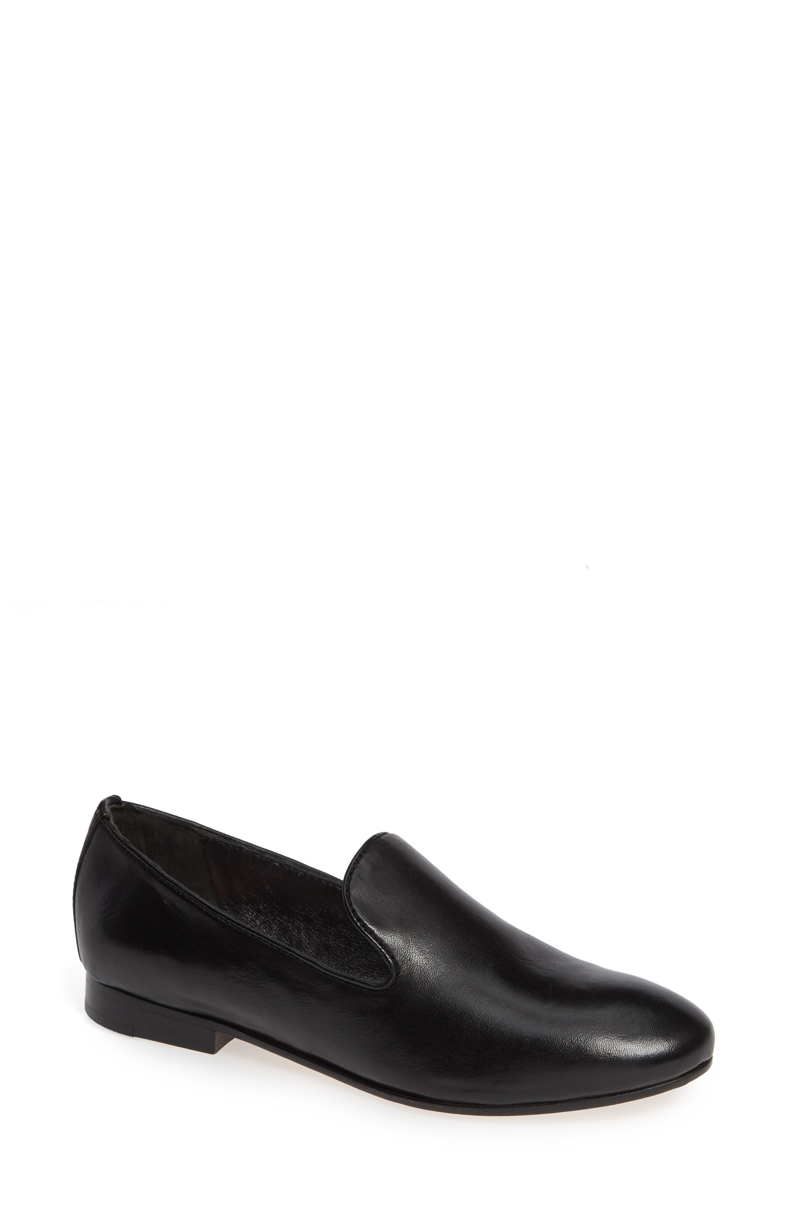 Sierra Loafer,                             Main thumbnail 1, color,                             BLACK LEATHER