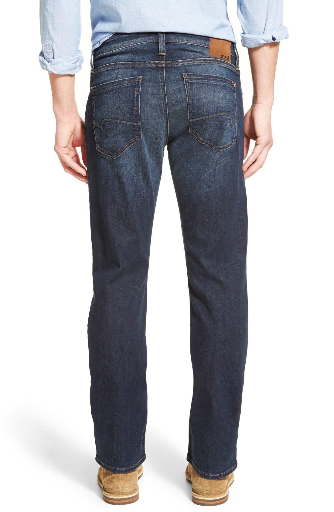 MAVI JEANS,                             Zach Straight Leg Jeans,                             Alternate thumbnail 5, color,                             DARK BRUSHED WILLIAMSBURG