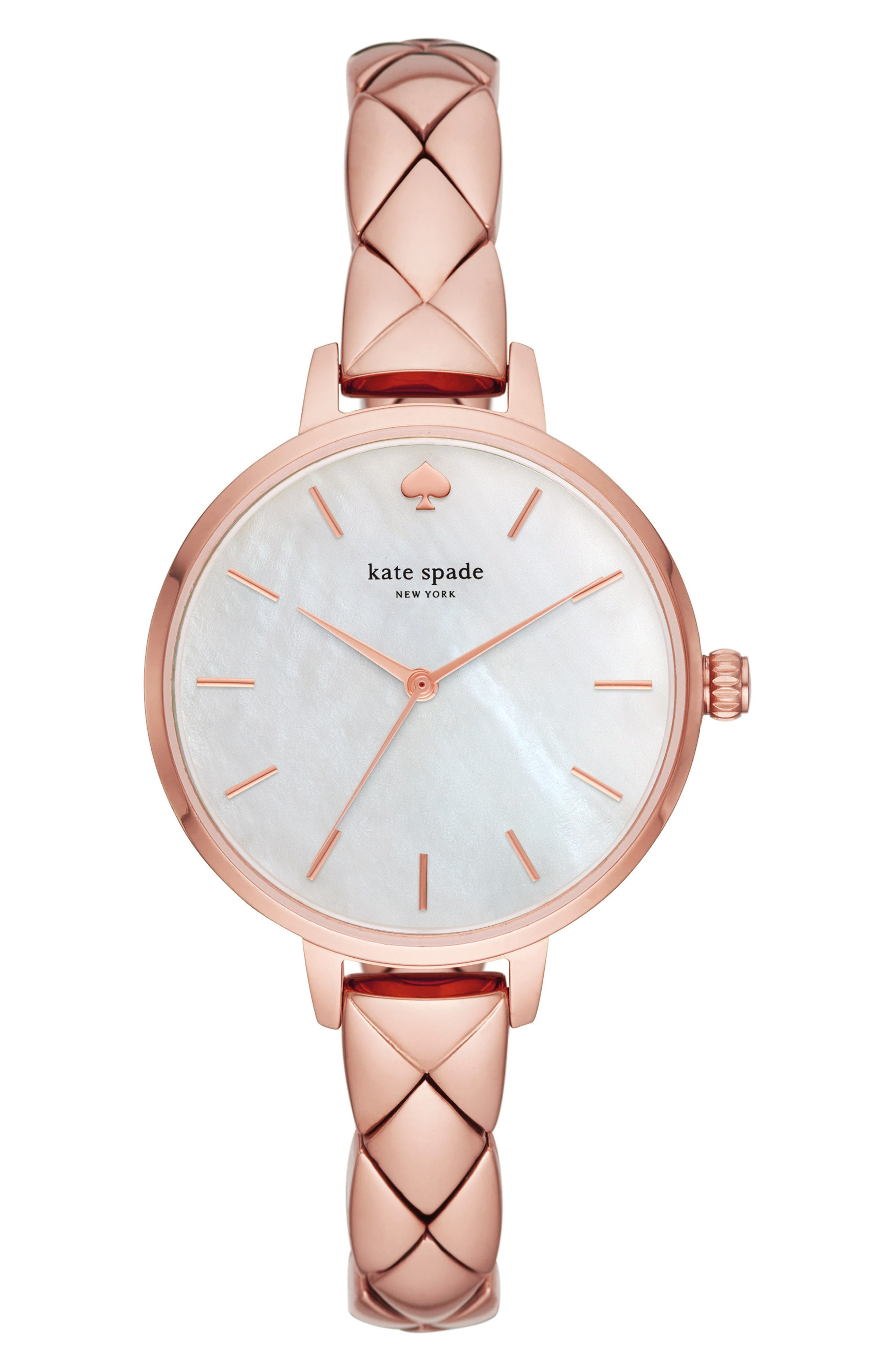 metro bracelet watch, 34mm,                             Main thumbnail 1, color,                             ROSE GOLD/ MOP/ ROSE GOLD