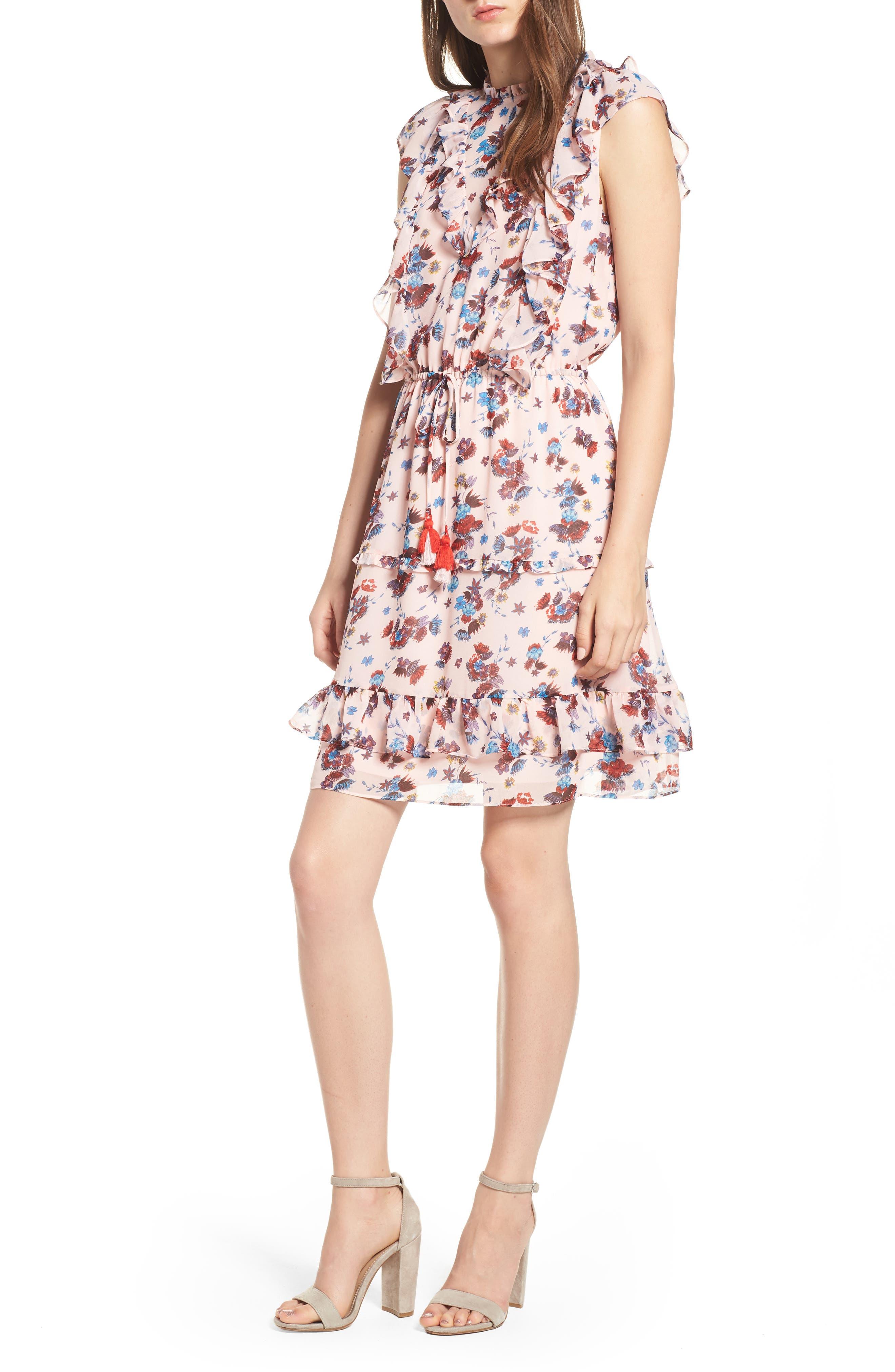 Kika Dress,                             Alternate thumbnail 6, color,                             PINK MULTI