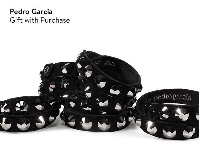 Pedro Garcia gift with shoe purchase: Swarovski crystal-studded bracelet.