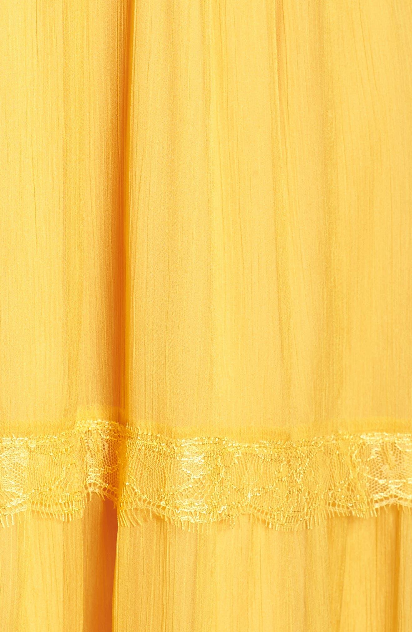 Tiered Chiffon Maxi Dress,                             Alternate thumbnail 5, color,                             700
