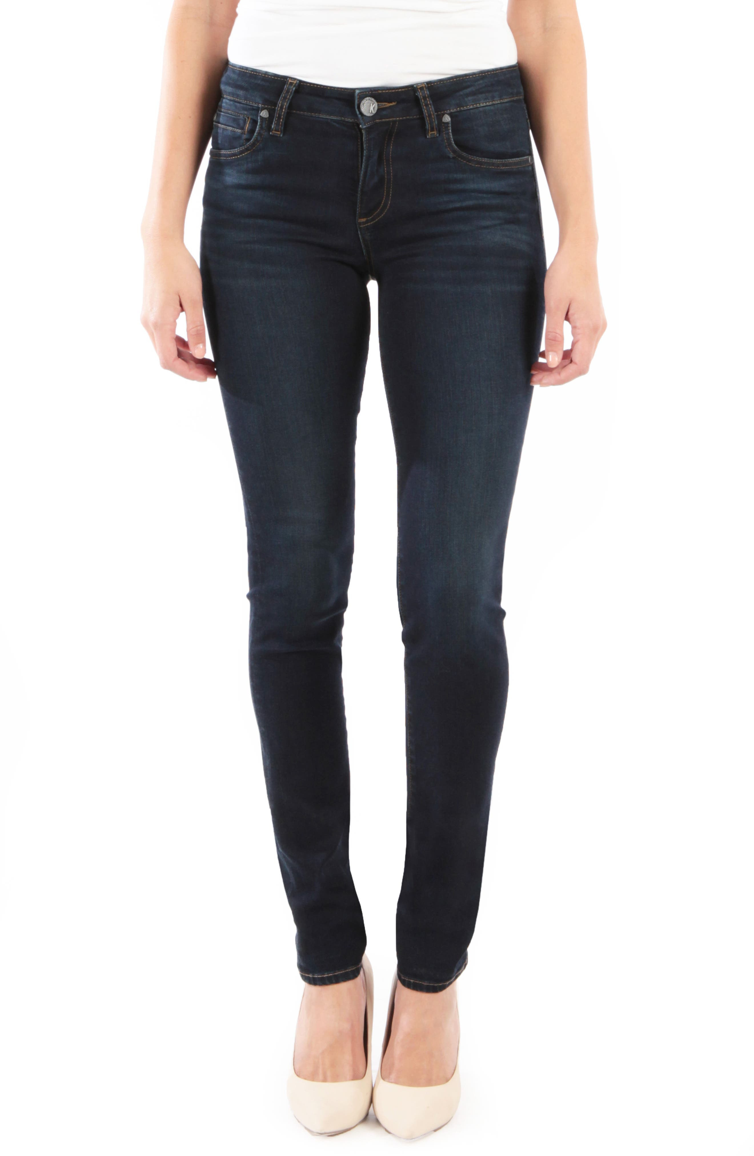 Petite Kut From The Kloth Diana Skinny Jeans, Blue