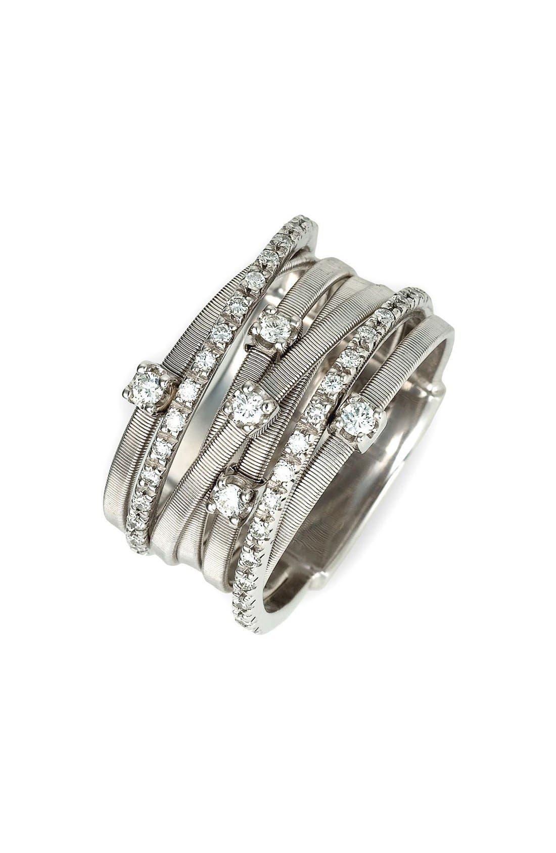 'Goa' Seven Band Diamond Ring,                             Alternate thumbnail 2, color,                             WHITE GOLD