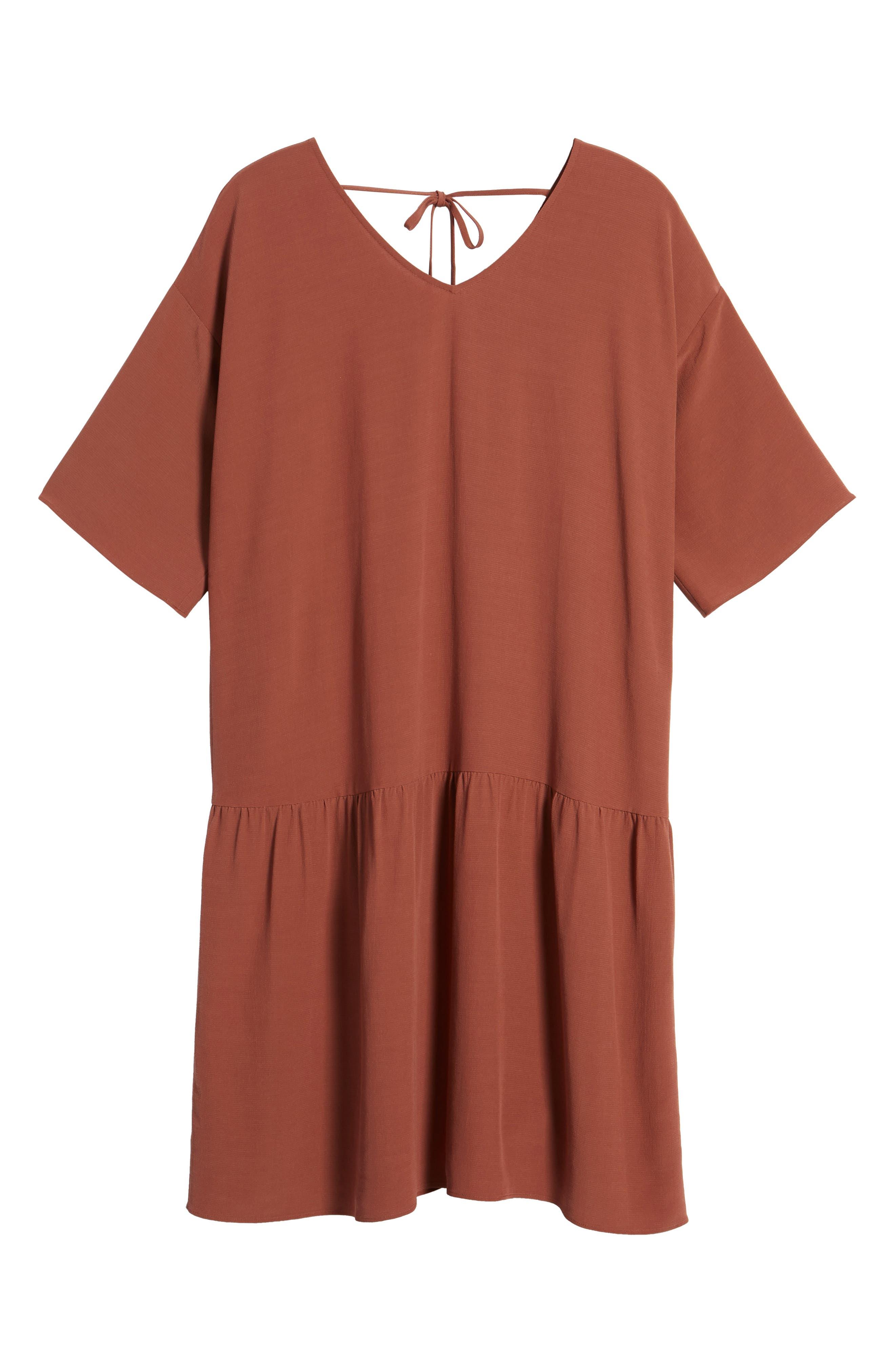 Drop Waist Tencel<sup>®</sup> Lyocell Blend Dress,                             Alternate thumbnail 23, color,