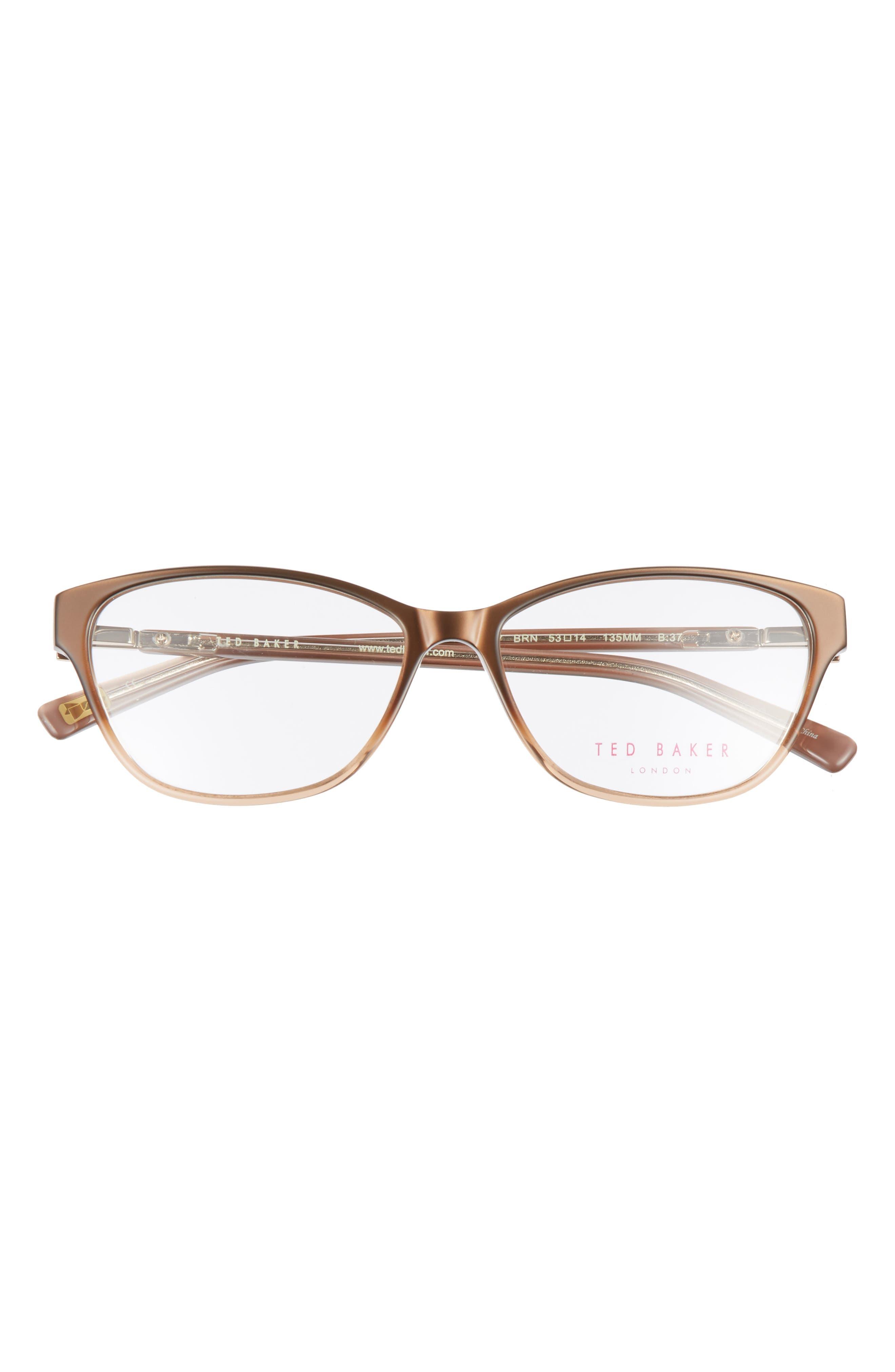 53mm Optical Cat Eye Glasses,                             Alternate thumbnail 3, color,                             200