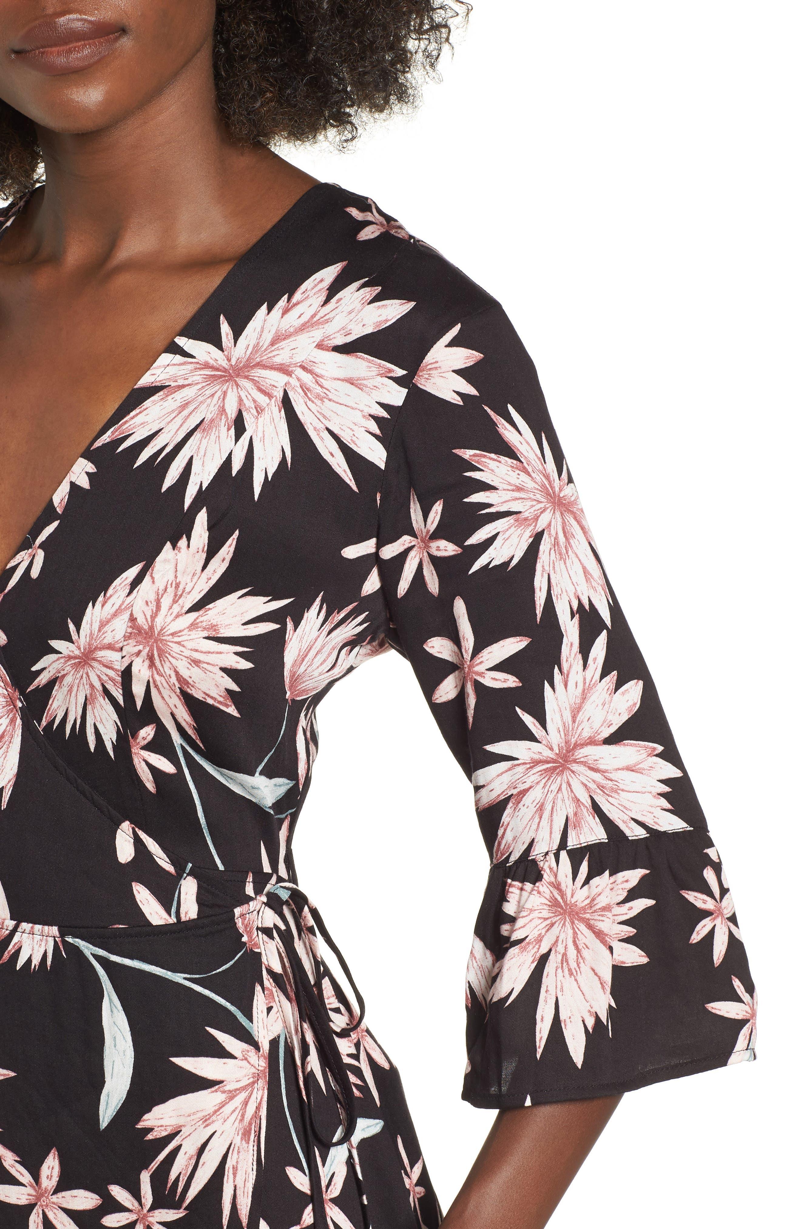 Shades of Dawn Wrap Dress,                             Alternate thumbnail 4, color,                             402