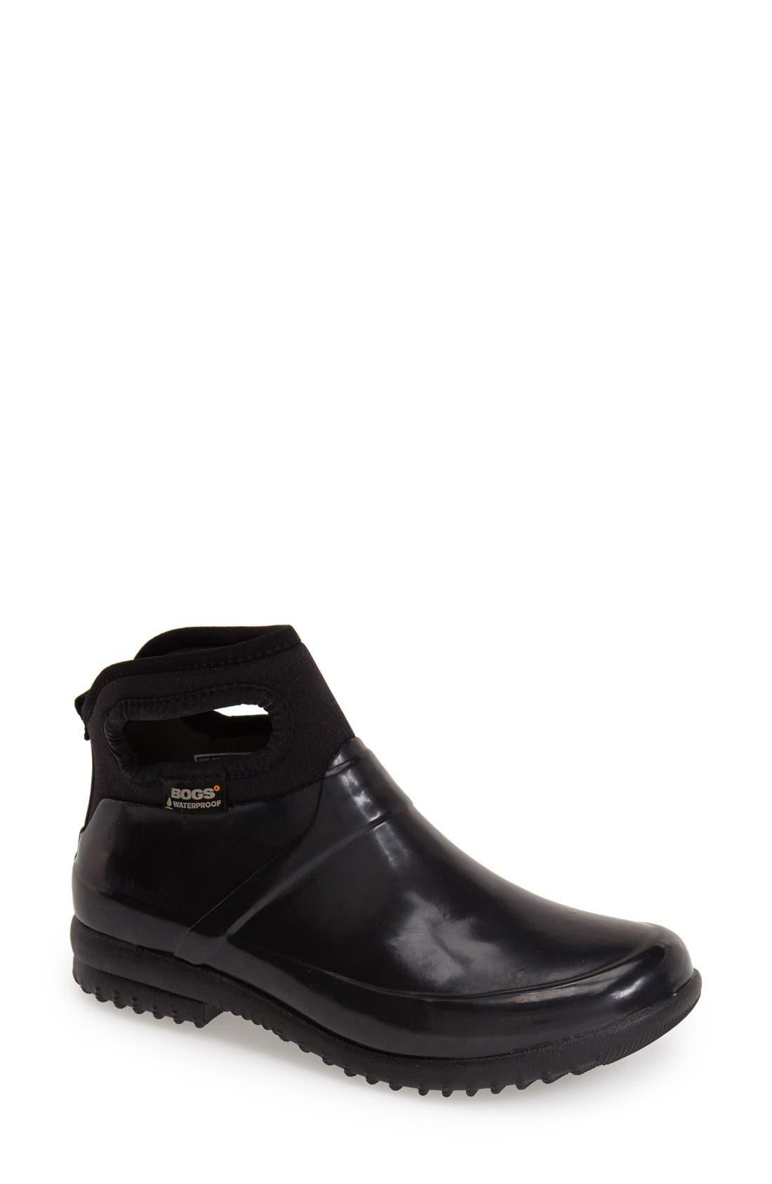 'Seattle' Waterproof Short Boot,                             Main thumbnail 1, color,                             BLACK