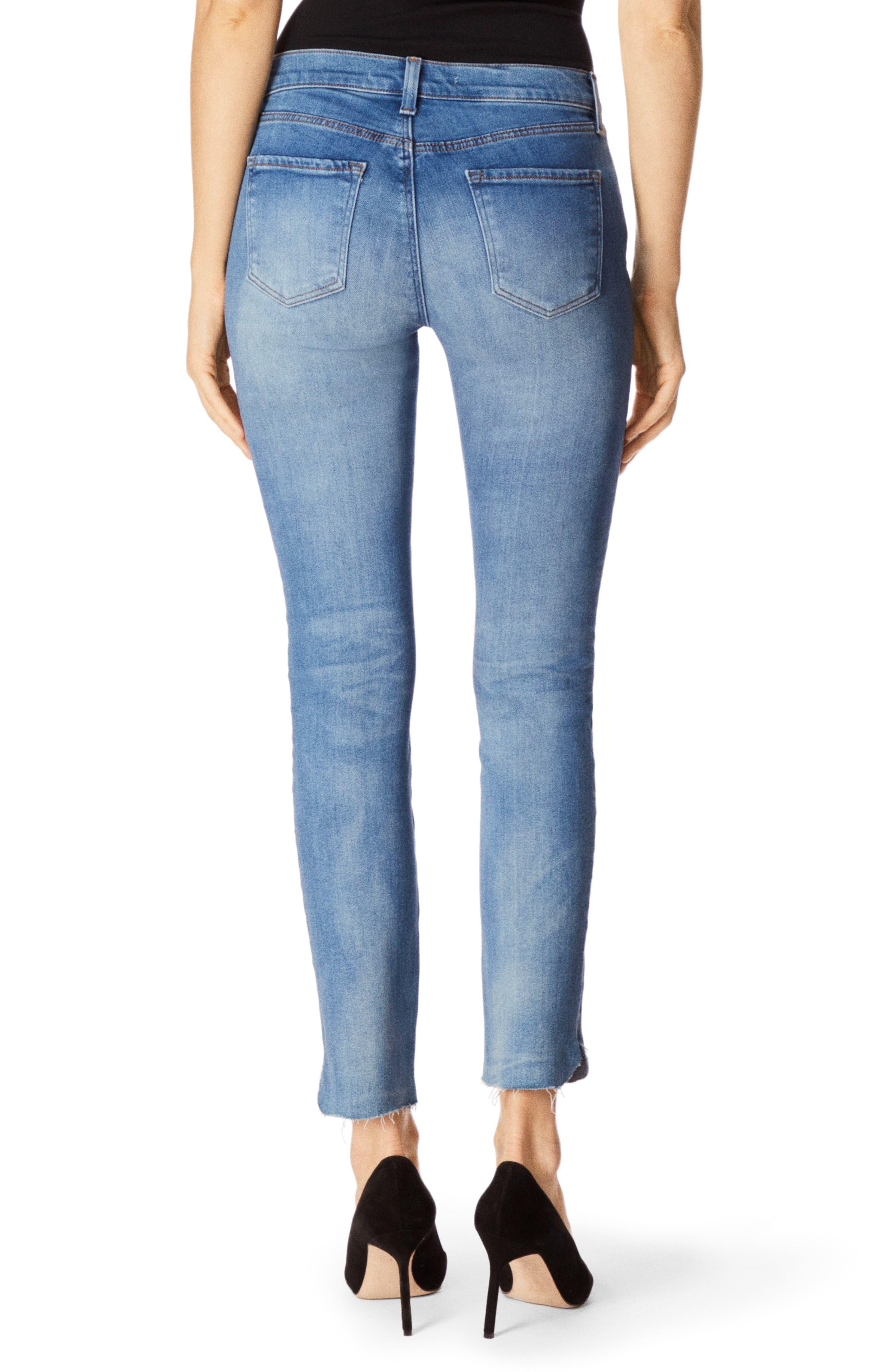 811 Raw Hem Ankle Skinny Jeans,                             Alternate thumbnail 2, color,                             RADIATE