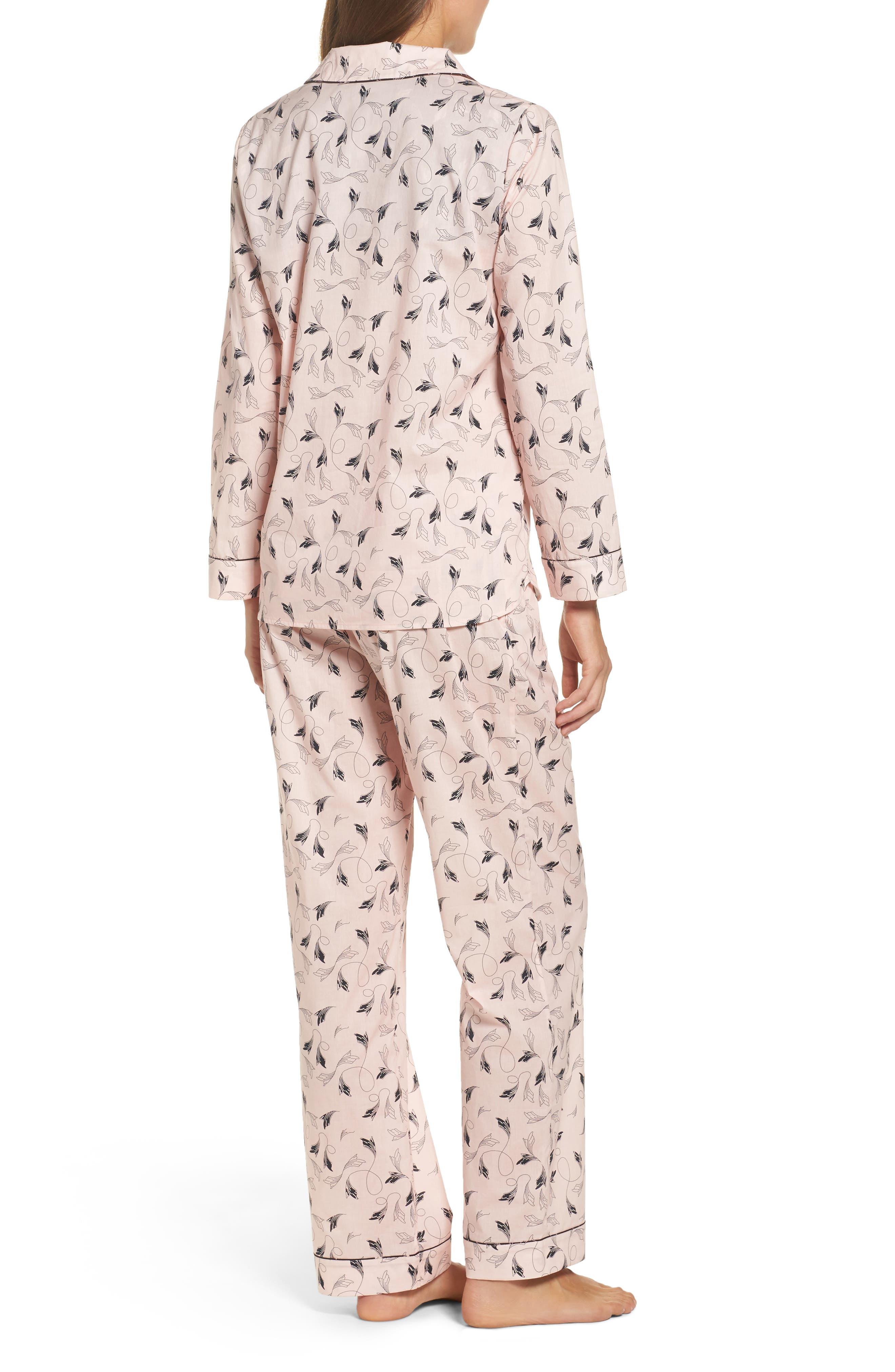 Classic Print Cotton Poplin Pajamas,                             Alternate thumbnail 2, color,