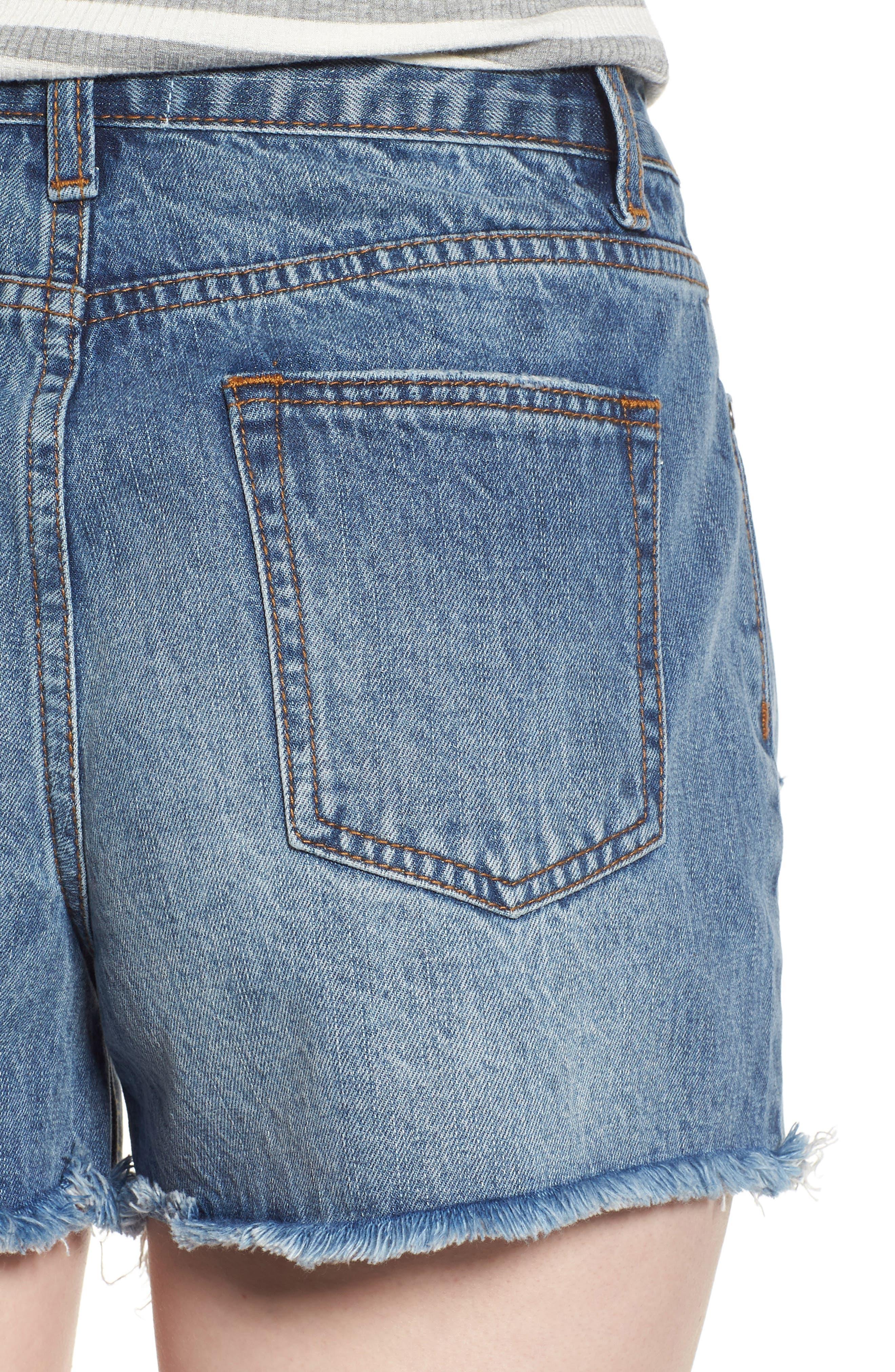 Ripped Boyfriend Shorts,                             Alternate thumbnail 4, color,                             400