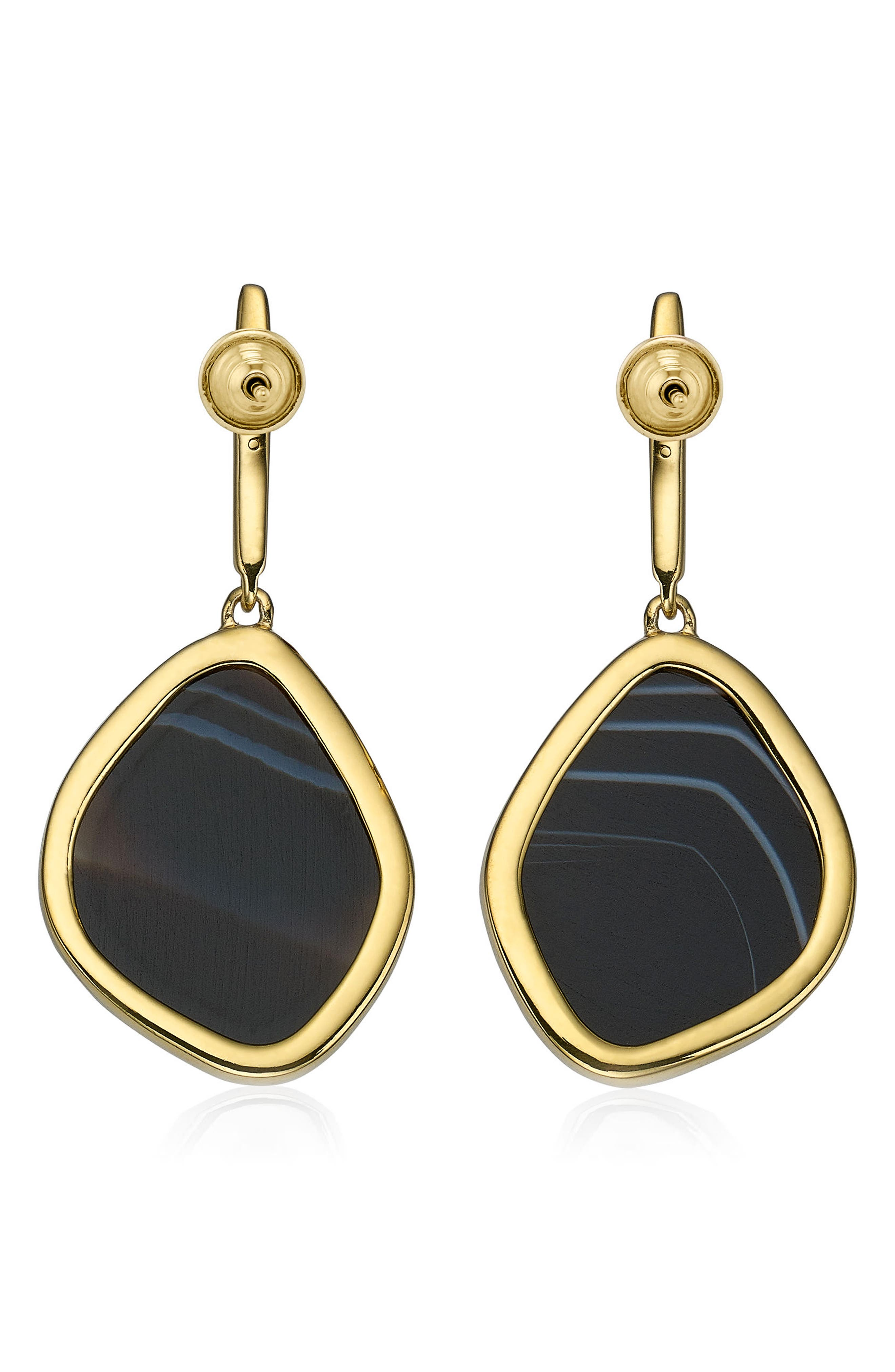 MONICA VINADER,                             Siren Nugget Semiprecious Stone Drop Earrings,                             Main thumbnail 1, color,                             001