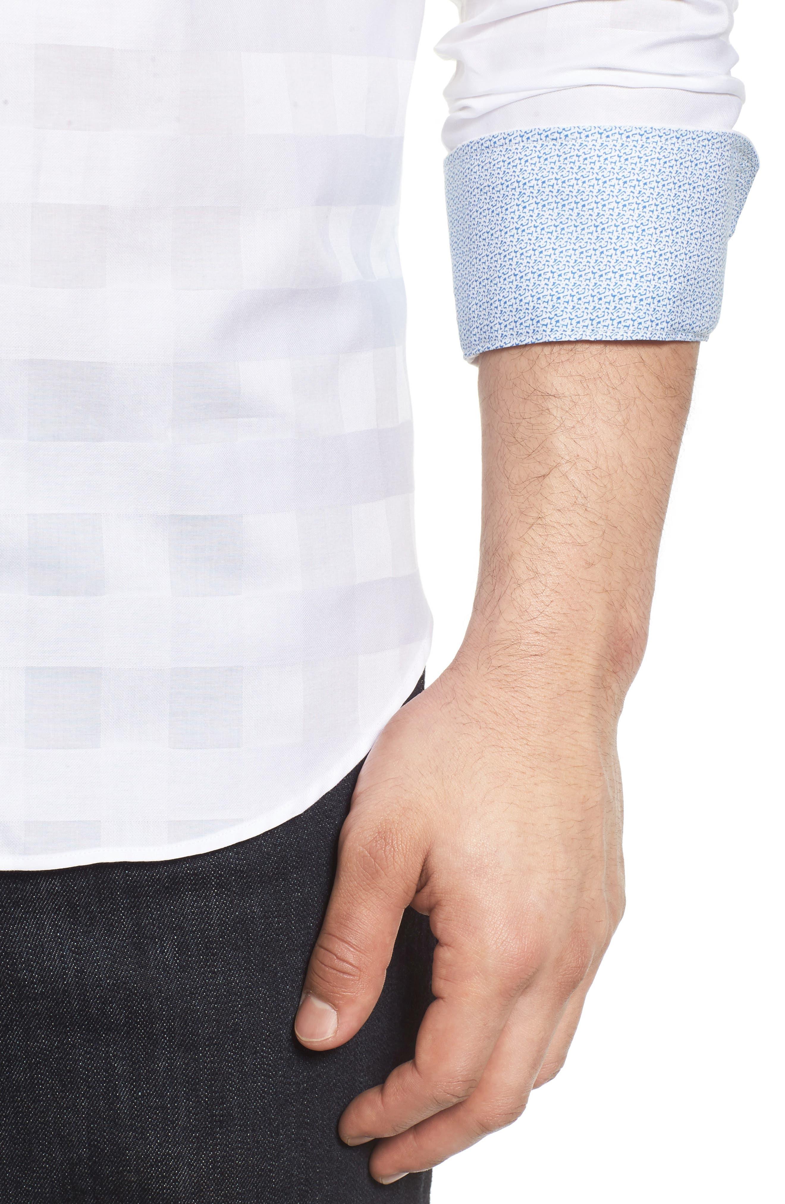Shaped Fit Sport Shirt,                             Alternate thumbnail 11, color,