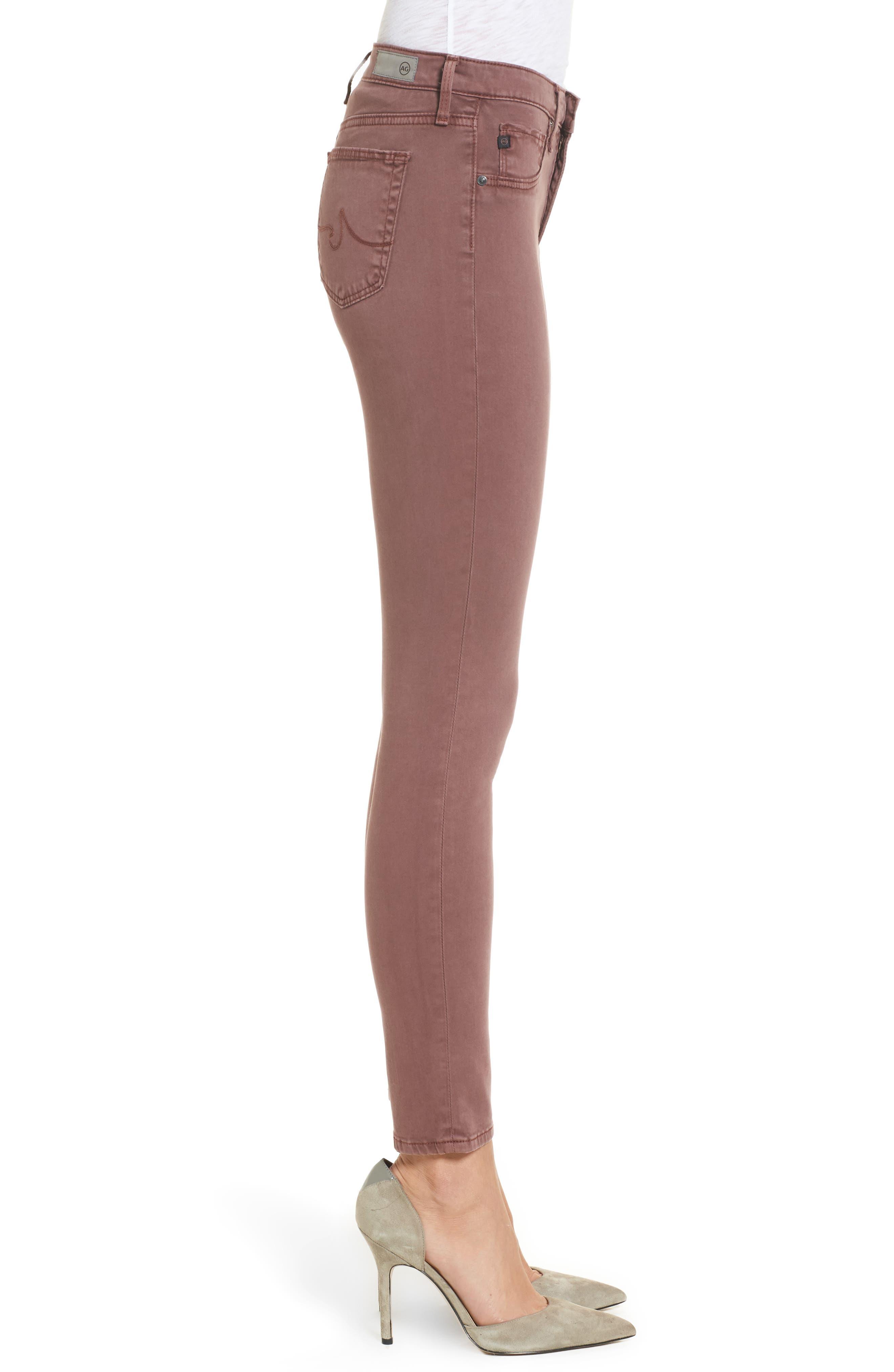 The Legging Ankle Jeans,                             Alternate thumbnail 3, color,                             SULFUR BLACKBERRY