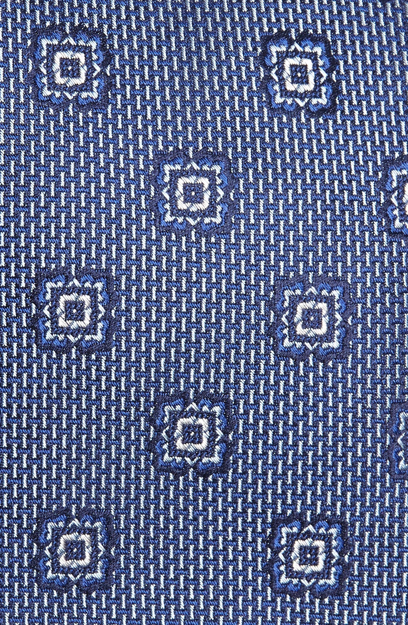 Medallion Silk Tie,                             Alternate thumbnail 2, color,                             BLUE