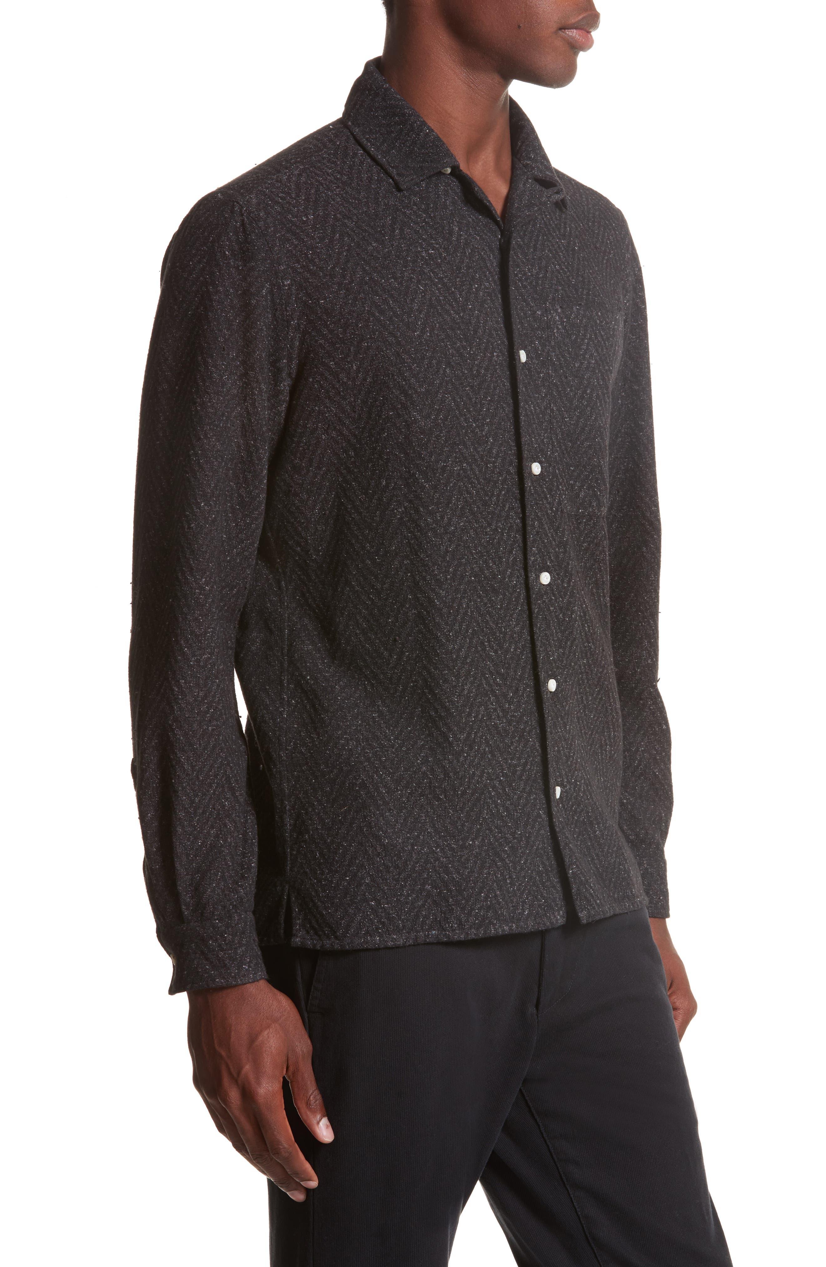 Napoli Herringbone Texture Shirt,                             Alternate thumbnail 3, color,                             062