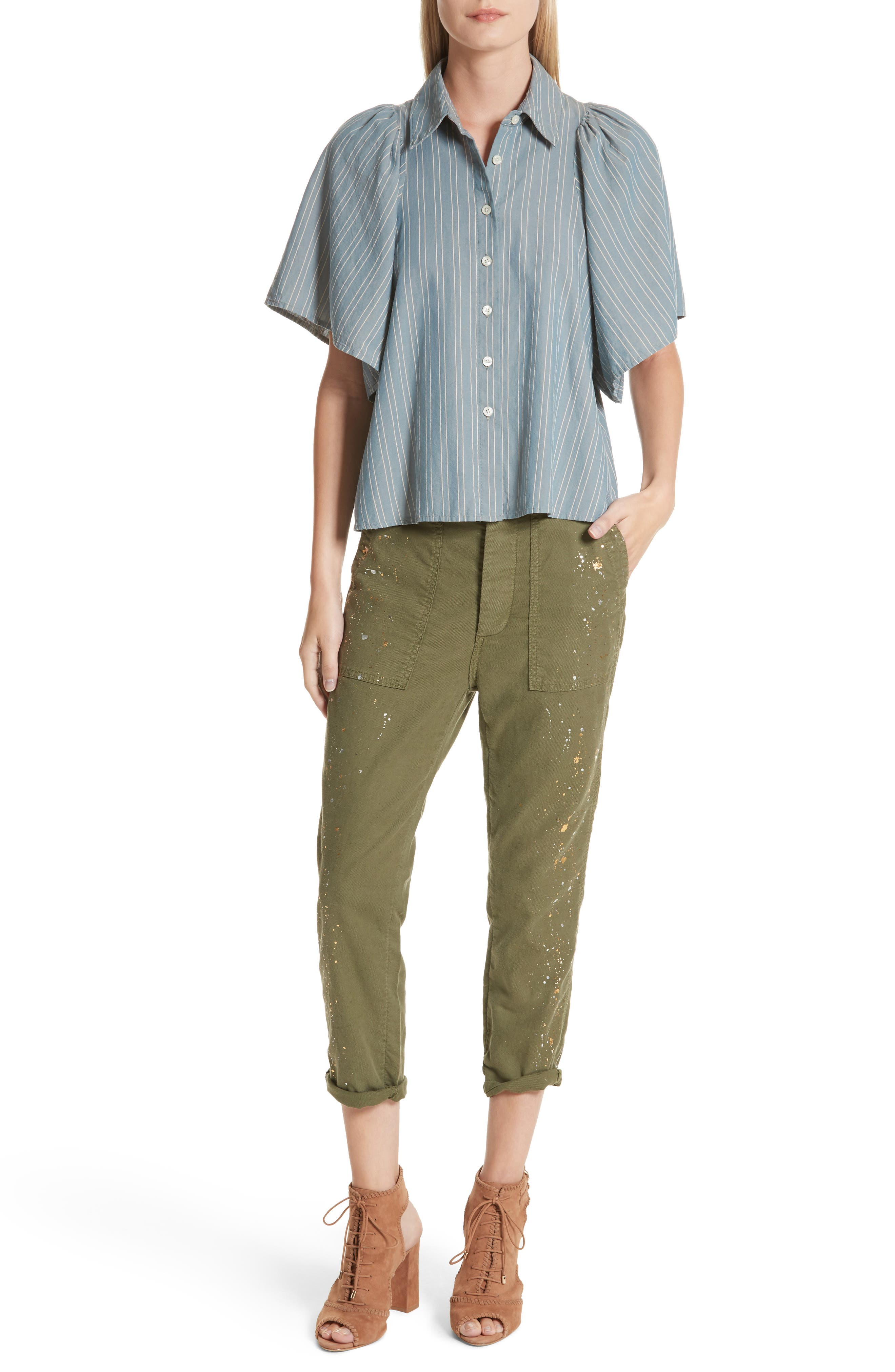 The Butterfly Button Up Shirt,                             Alternate thumbnail 7, color,                             407