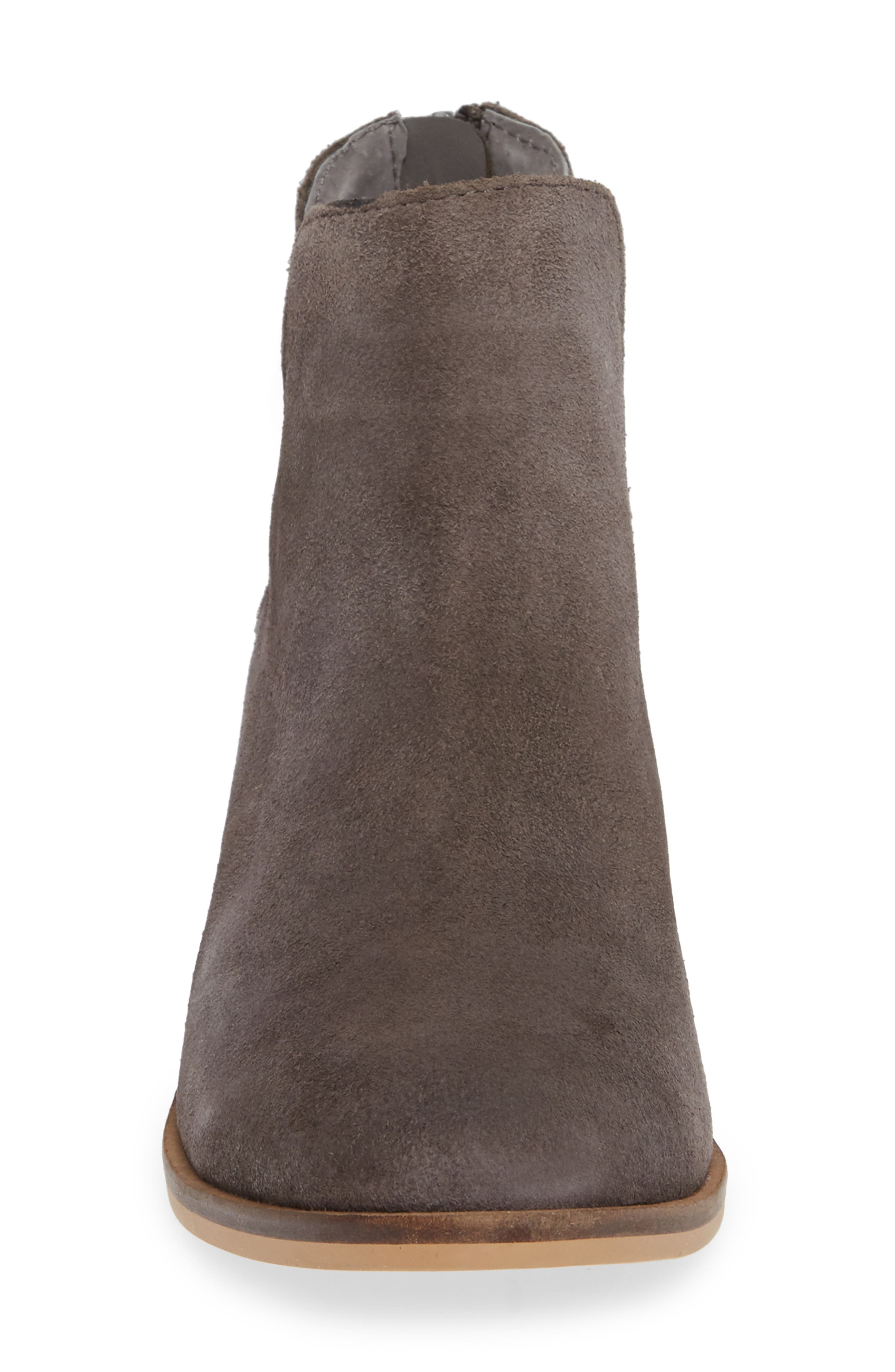 Lancaster Bootie,                             Alternate thumbnail 4, color,                             GREY SUEDE