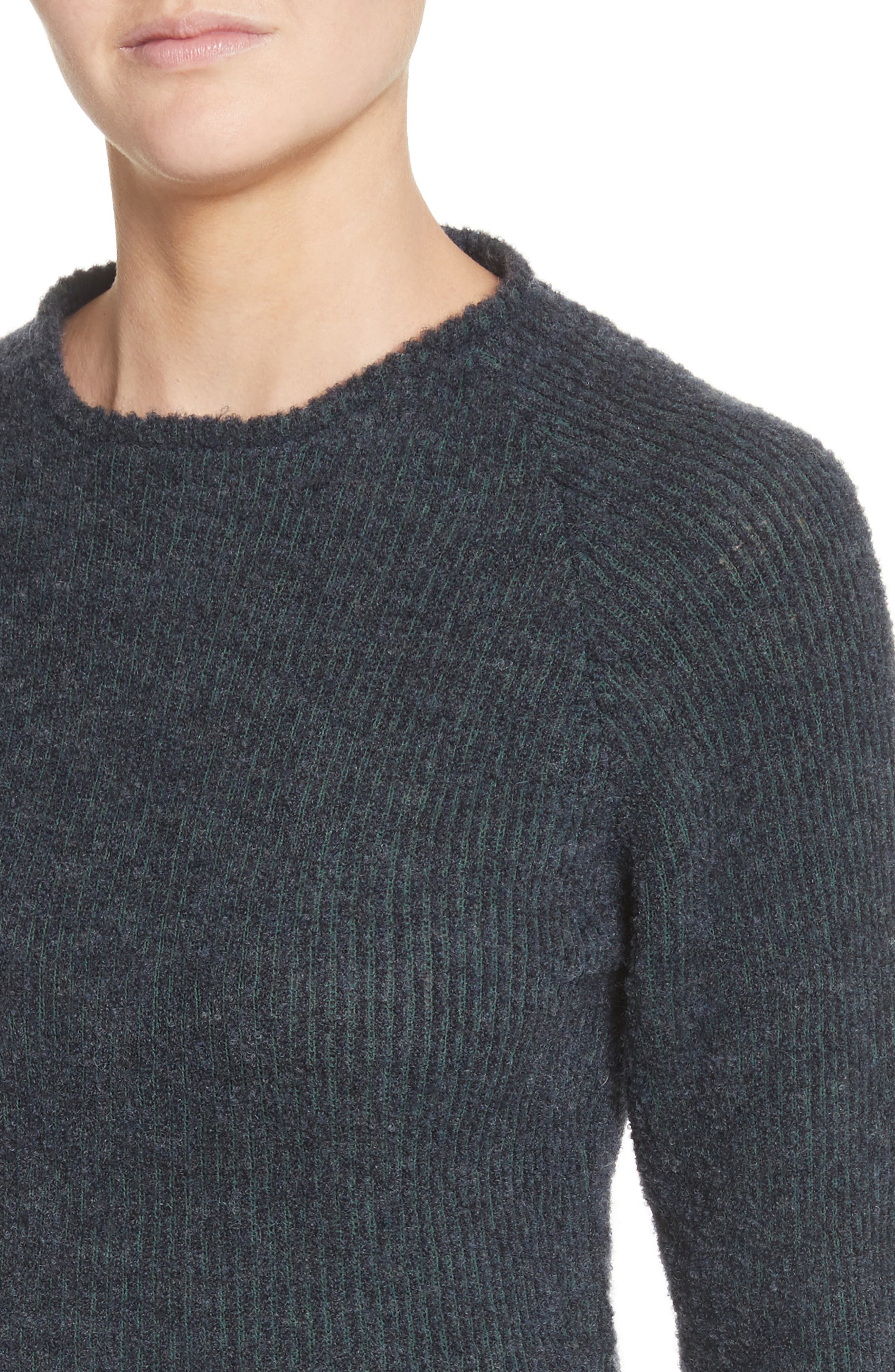 Raglan Pullover Sweater,                             Alternate thumbnail 4, color,                             NAVY