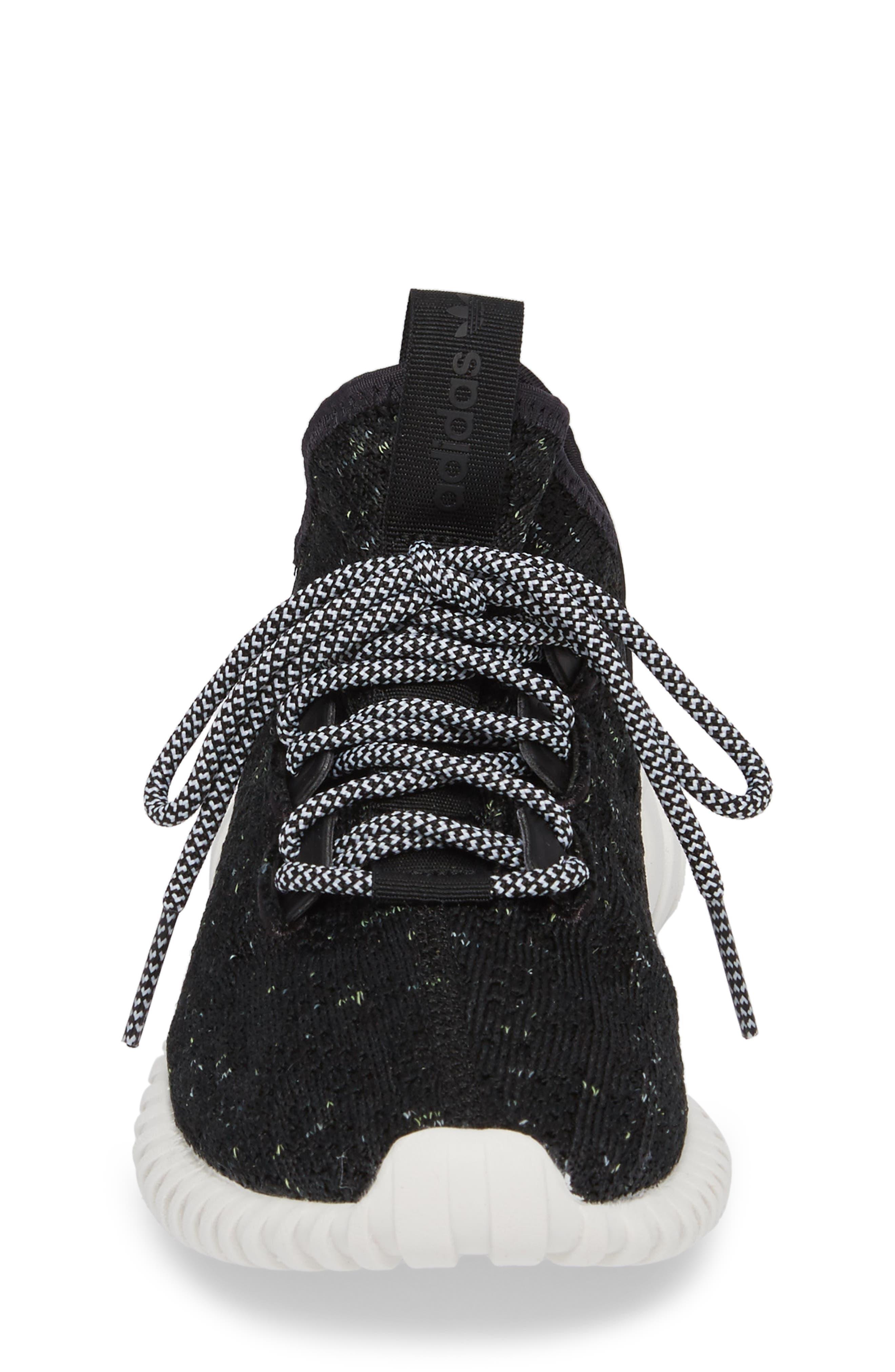 Tubular Doom Sock Primeknit Sneaker,                             Alternate thumbnail 4, color,                             001